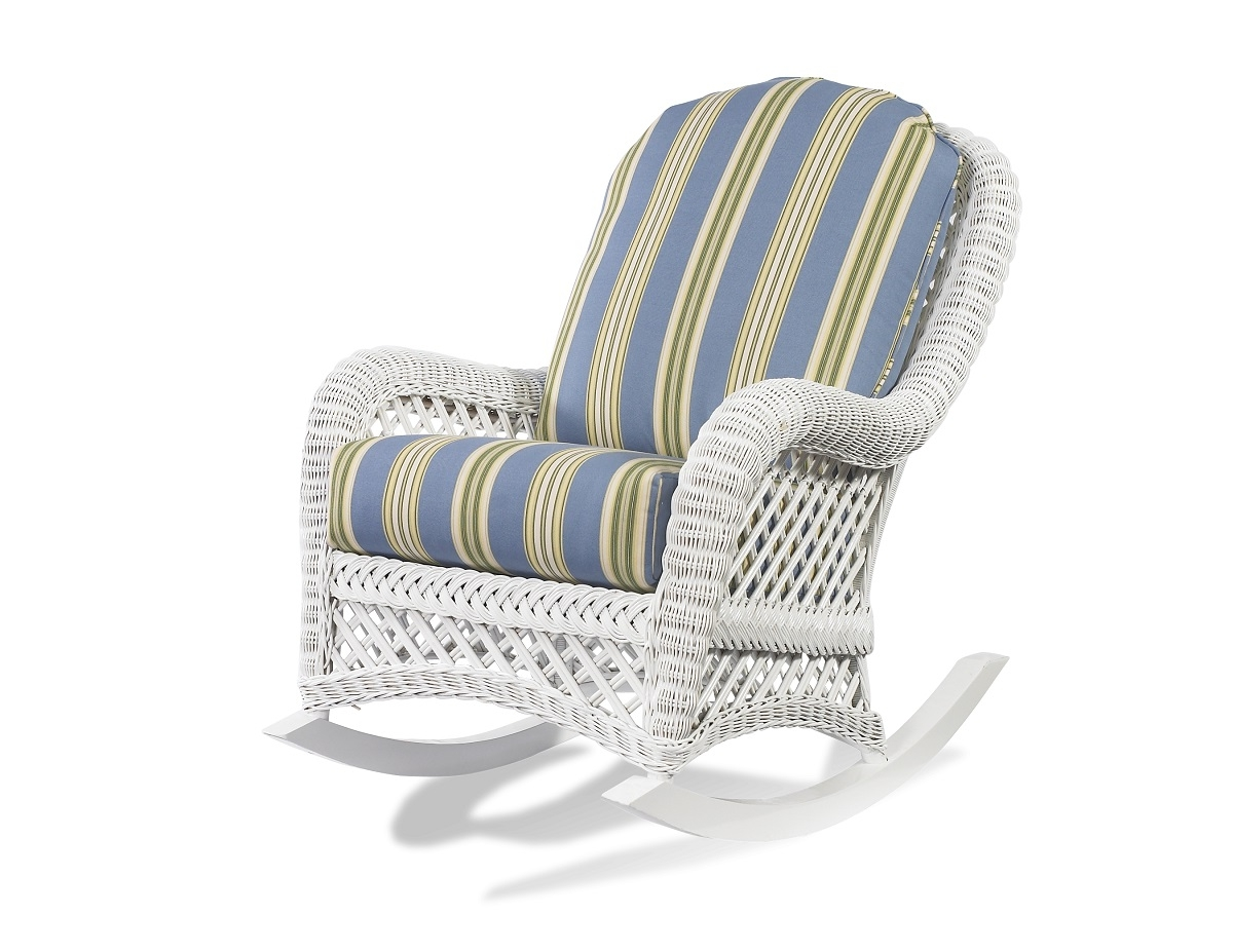 Famous White Wicker Rocker – Lanai (View 4 of 15)