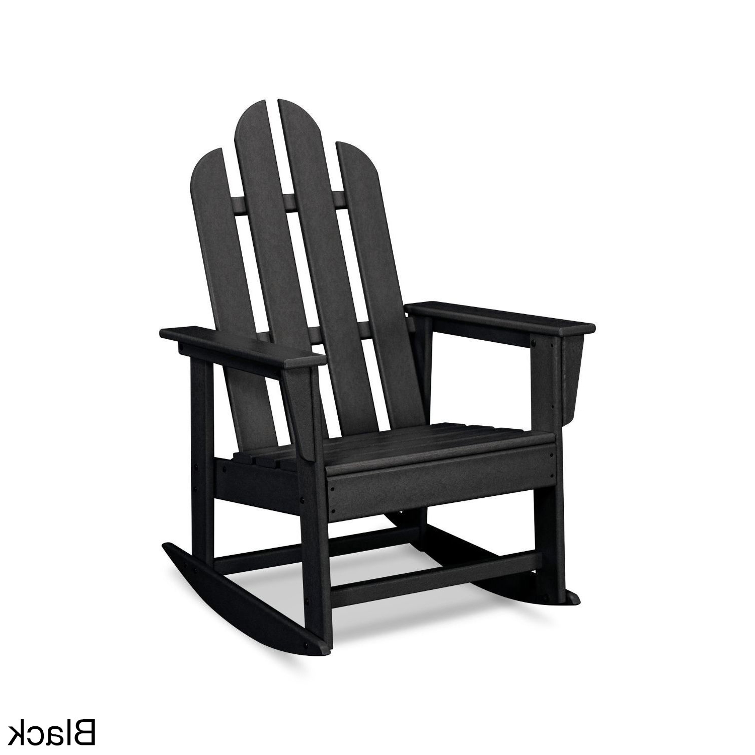 Fashionable Manhattan Patio Grey Rocking Chairs Regarding Shop Polywood Long Island Outdoor Rocking Chair – Free Shipping (View 7 of 15)