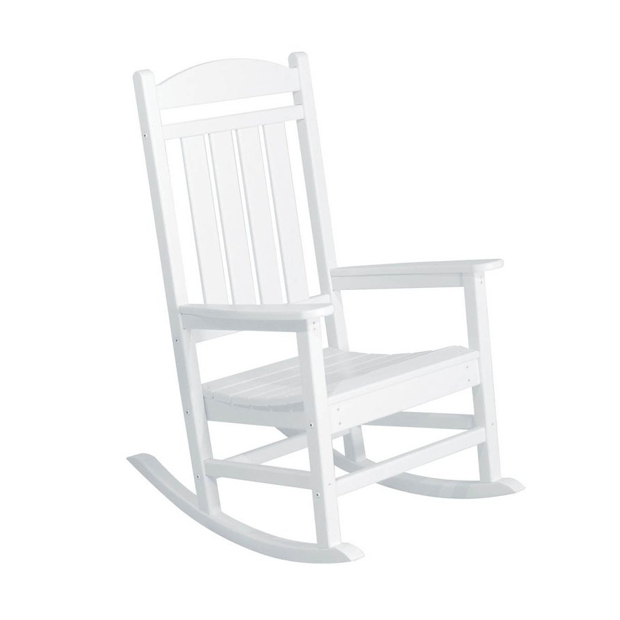 Fashionable Plastic Patio Rocking Chairs With Great Patio Rocking Chairs Shop Polywood Presidential White Plastic (View 2 of 15)