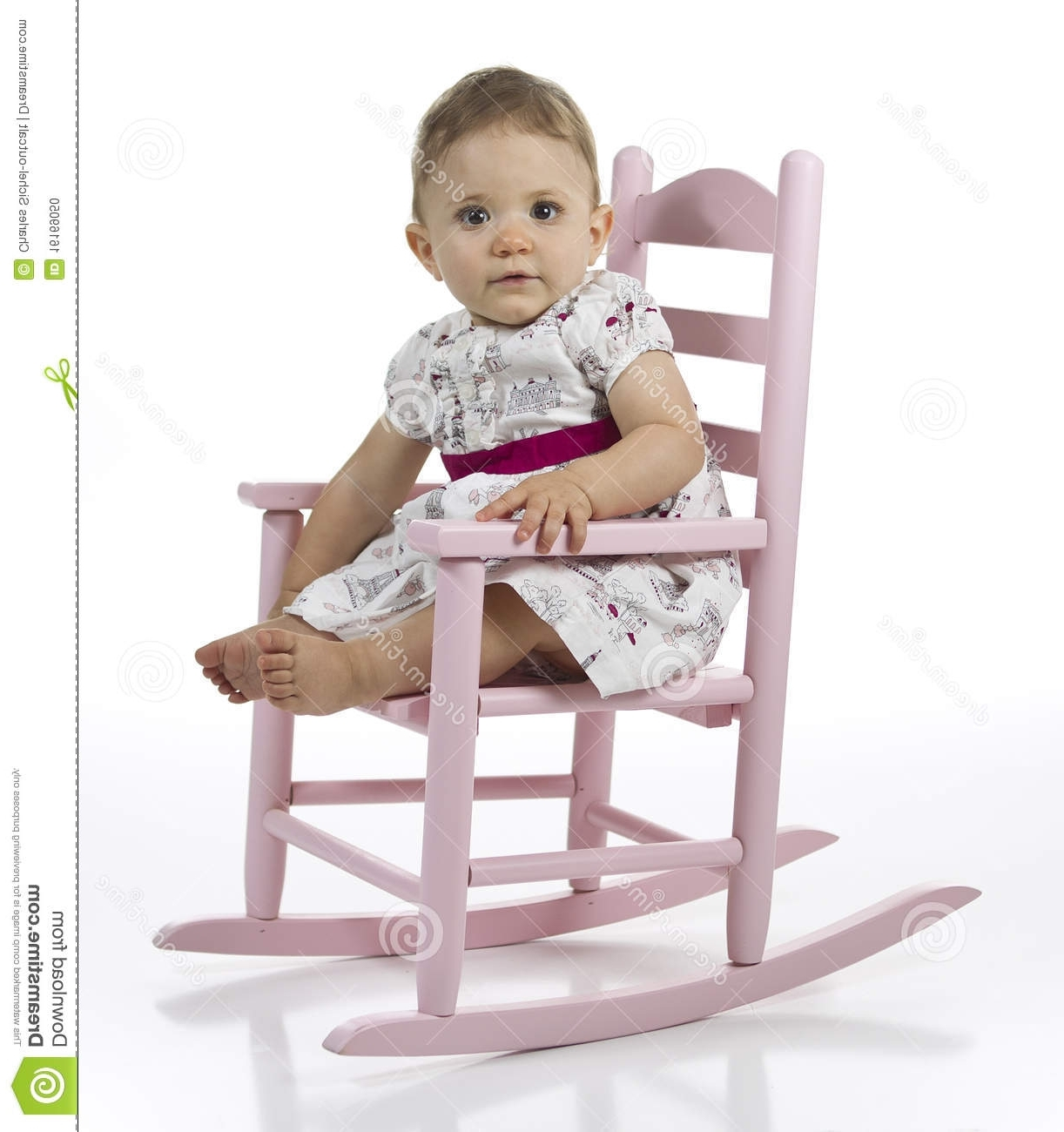 Fashionable Rocking Chairs For Babies For Baby Girl In Rocking Chair Stock Photo (View 4 of 15)