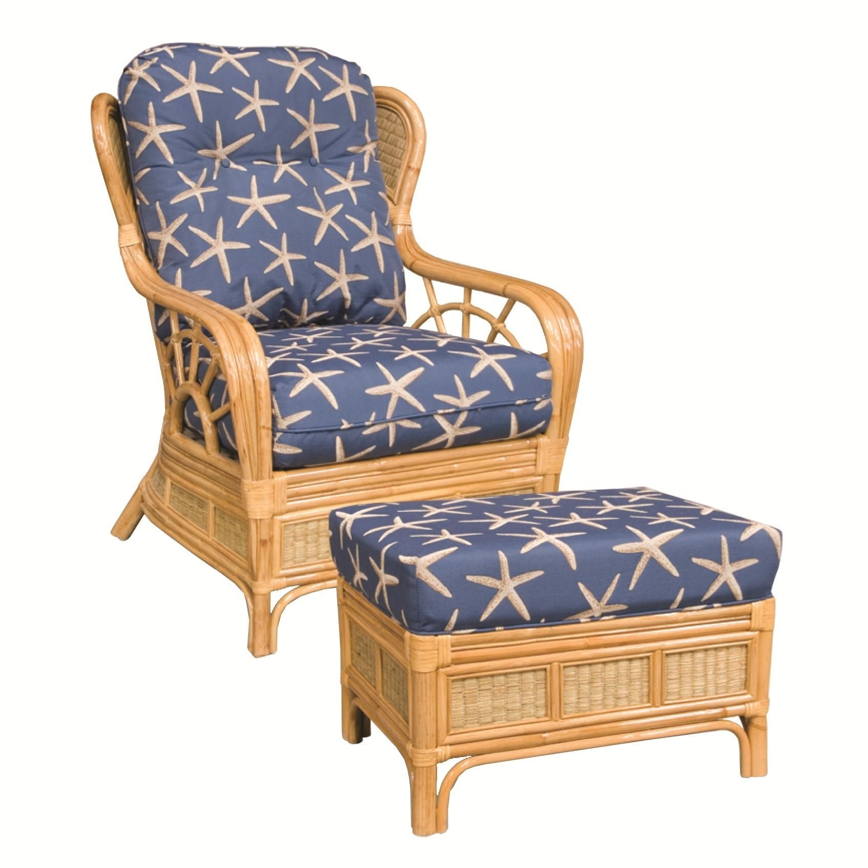 Fashionable Wicker Rocking Chairs And Ottoman With 381 Collection Wicker Rattan Chair And Ottomancapris Furniture (View 15 of 15)
