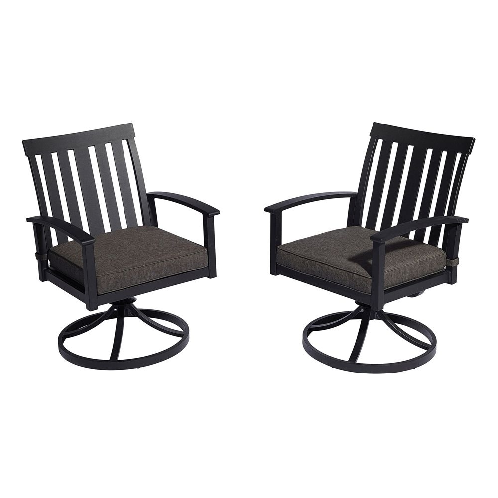Favorite Allen + Roth Oakview Swivel Rocker Patio Dining Chair (Set Of 2 Regarding Rona Patio Rocking Chairs (View 4 of 15)