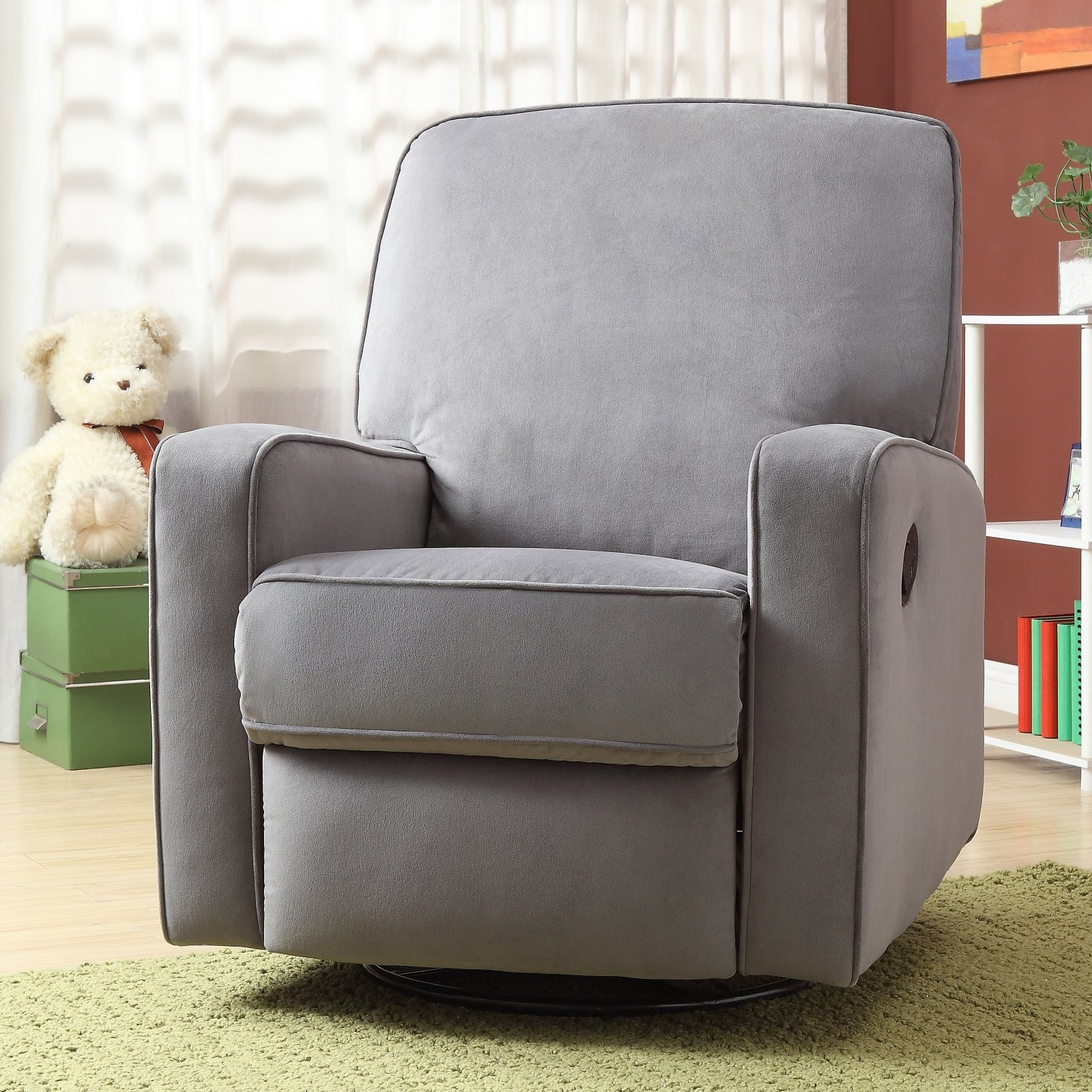 Favorite Home Meridian International Sutton Swivel Glider Recliner Stella Zen Intended For Zen Rocking Chairs (View 6 of 15)
