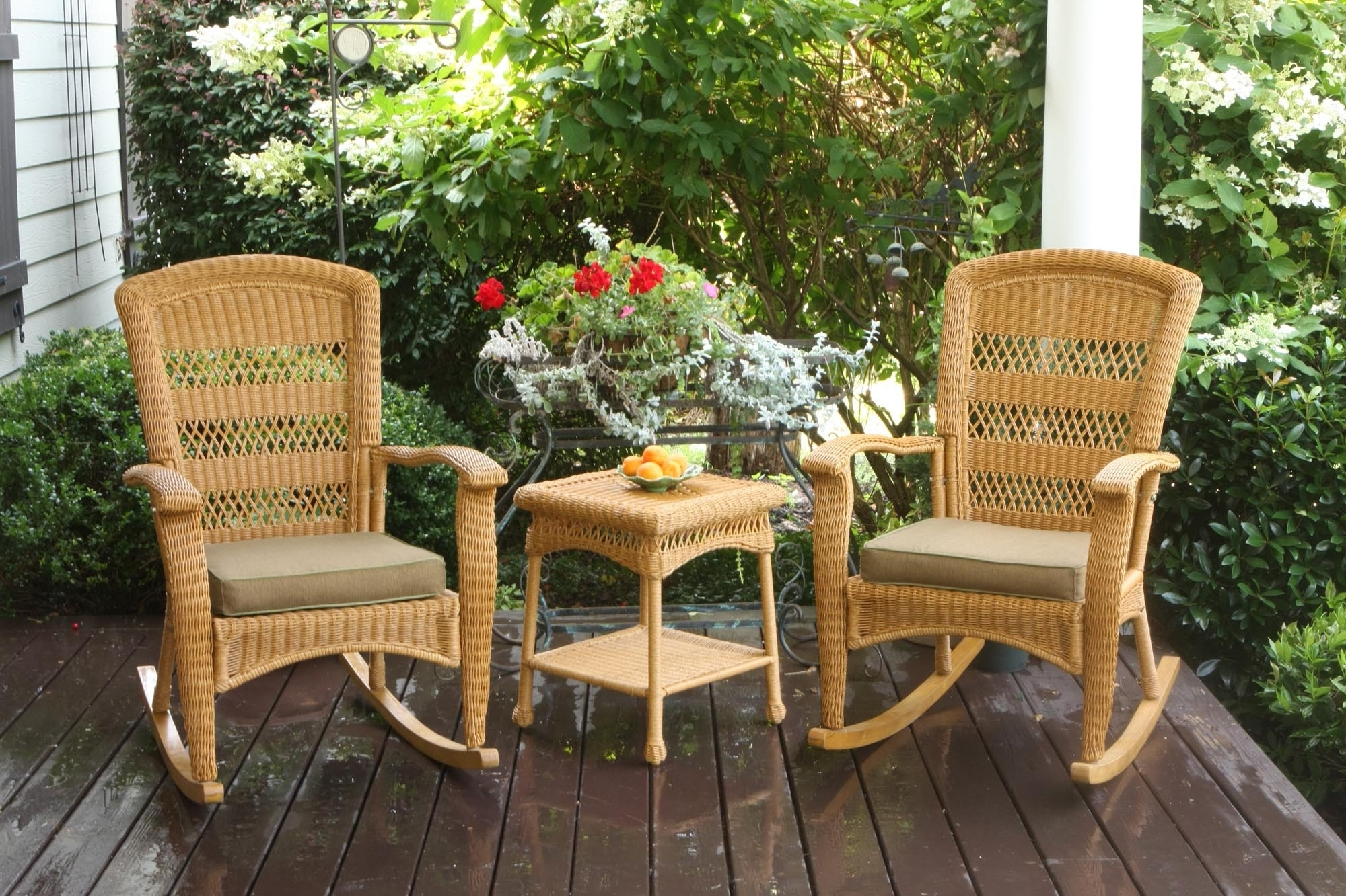 Favorite Portside Plantation Rocking Chair Set Tortuga Outdoor – Youtube In Wicker Rocking Chairs Sets (View 7 of 15)