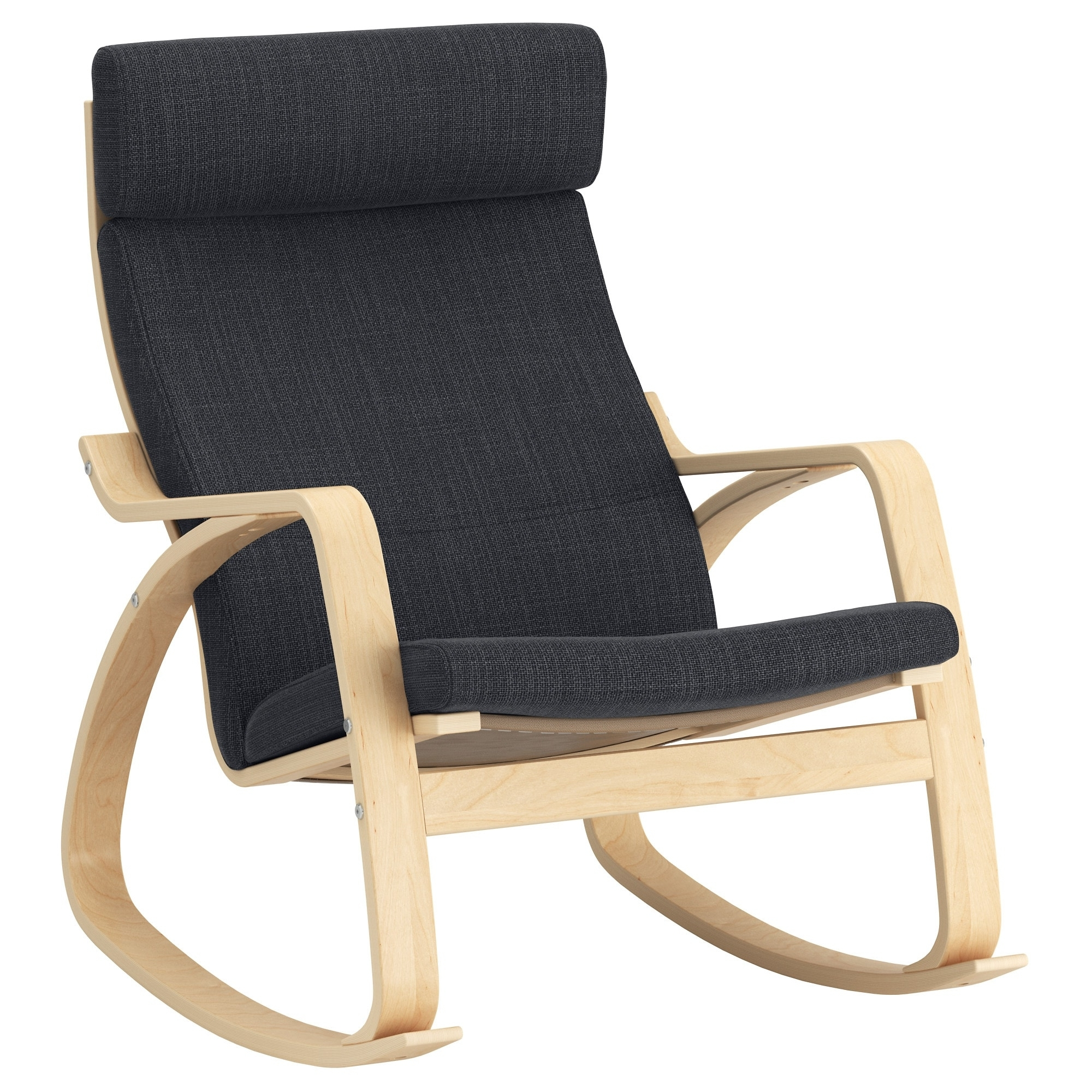 Favorite Rocking Chairs At Ikea Within Poäng Rocking Chair Birch Veneer/hillared Anthracite – Ikea (View 4 of 15)
