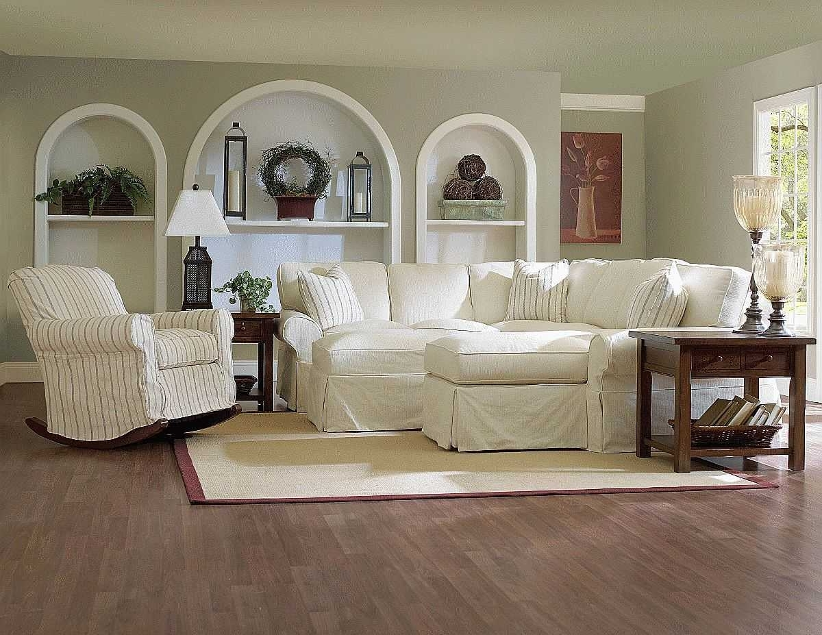 Favorite Rocking Chairs For Living Room Inside White Fabric Sofa For Additional Home Decorating Ideas With (View 13 of 15)