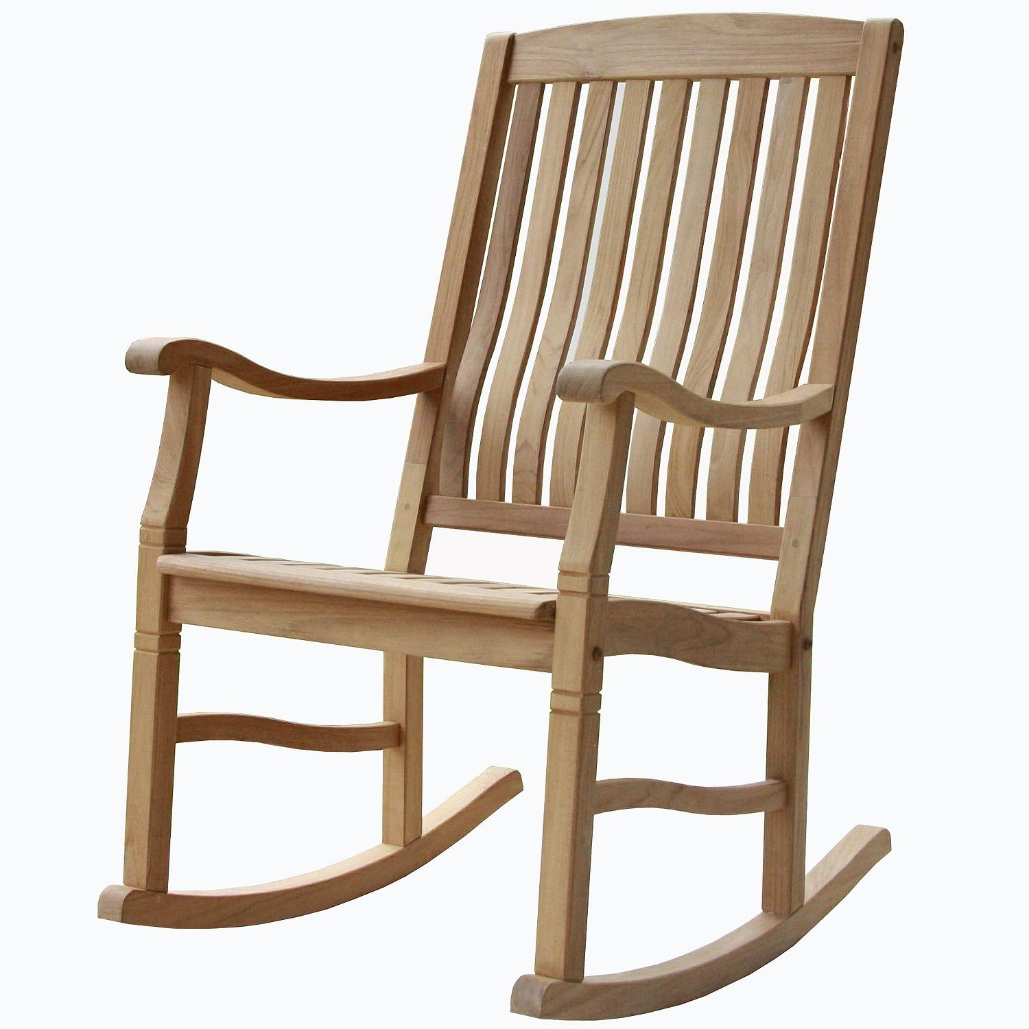 Favorite Teak Patio Rocking Chairs Within Teak Rocking Chair (2 Pack) (View 11 of 15)