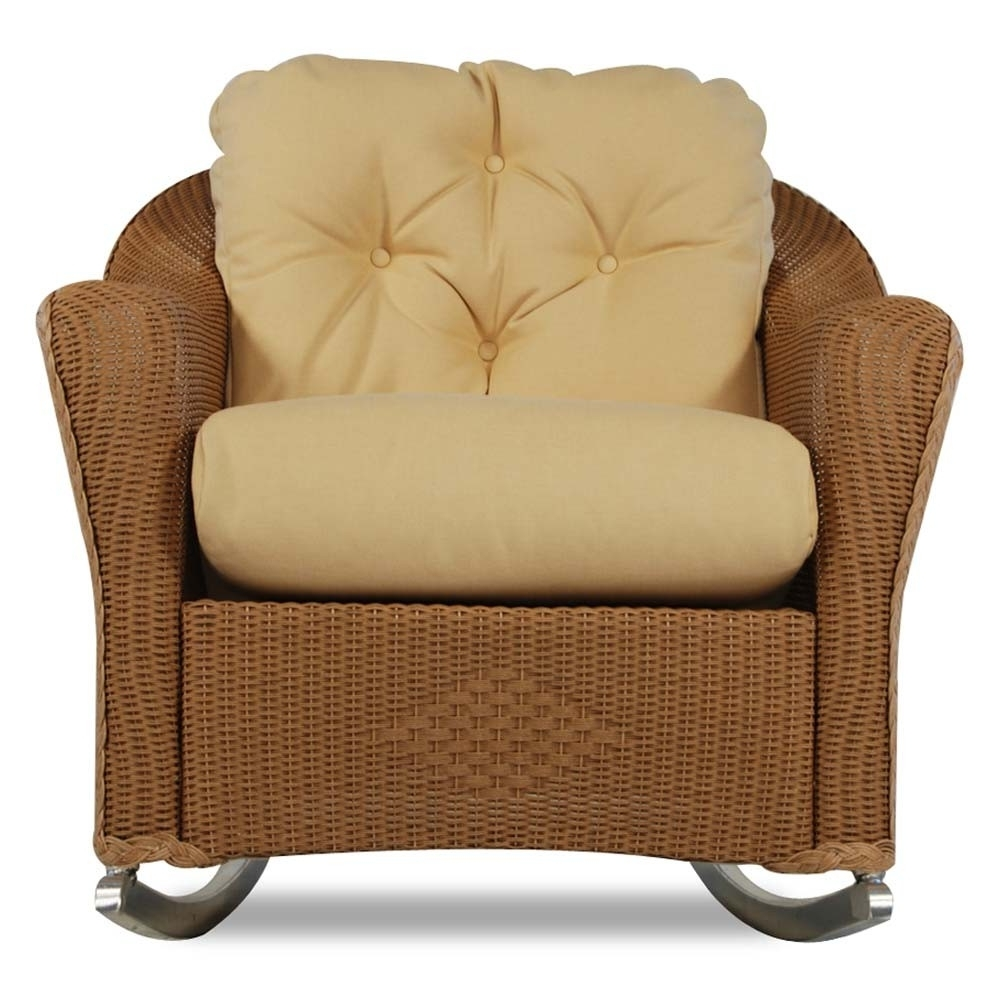 Favorite Wicker Rocking Chairs With Cushions Inside Lloyd Flanders Reflections Wicker Lounge Rocker – Special (View 15 of 15)