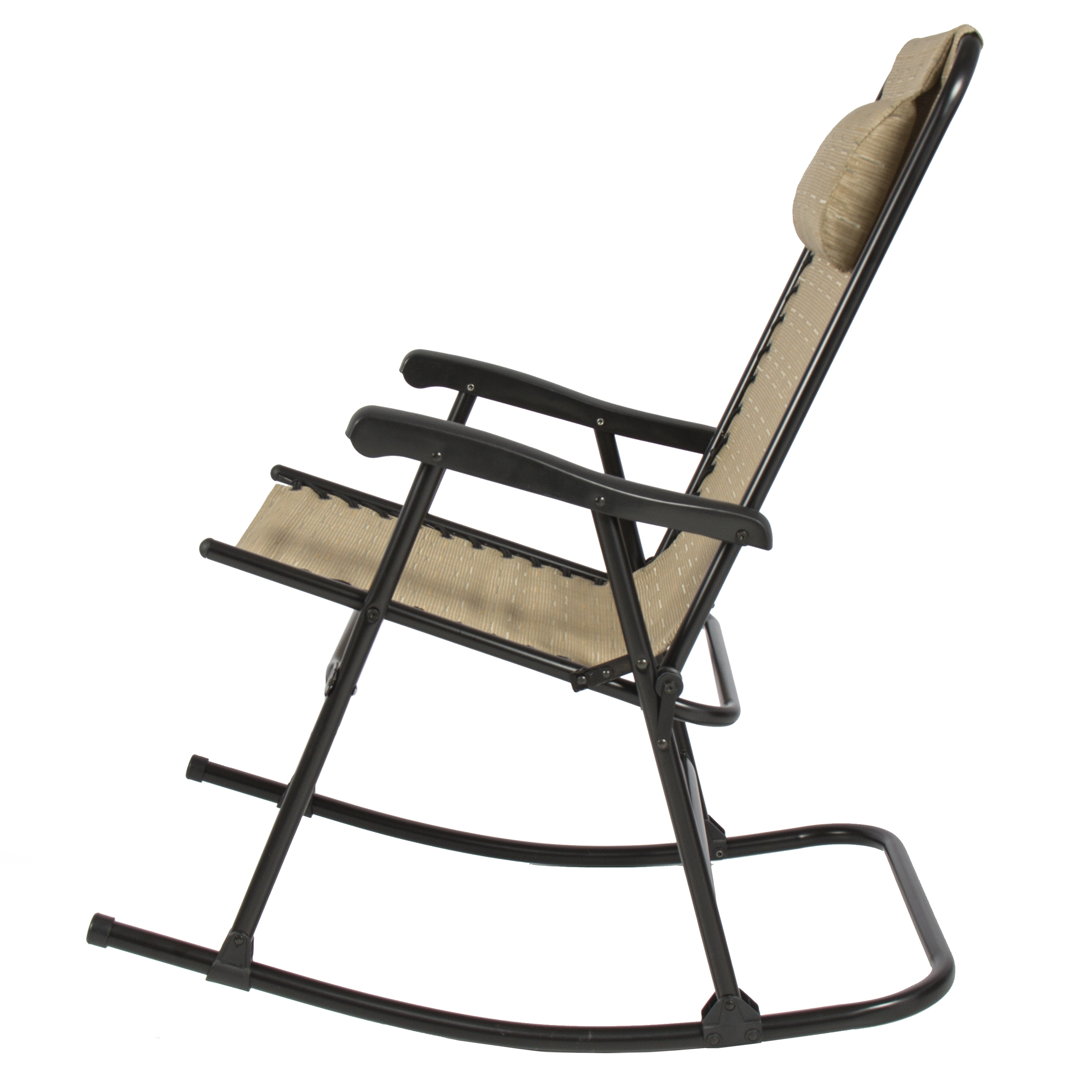 Folding Rocking Chair Foldable Rocker Outdoor Patio Furniture Beige In Most Up To Date Folding Rocking Chairs (View 6 of 15)