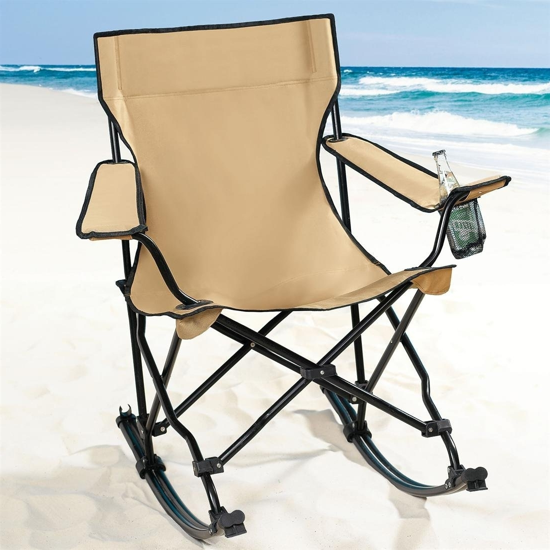 Folding Rocking Chairs Pertaining To Preferred Folding Camping Rocking Chair — All Modern Rocking Chairs : Extra (View 7 of 15)
