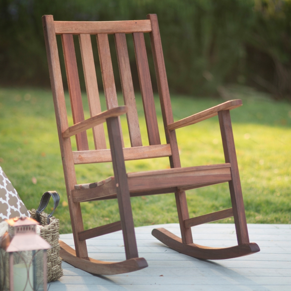 Furniture: Heavy Duty Rocking Chair Elegant Outdoor Wooden Rocking Inside Most Current Rocking Chair Outdoor Wooden (View 2 of 15)