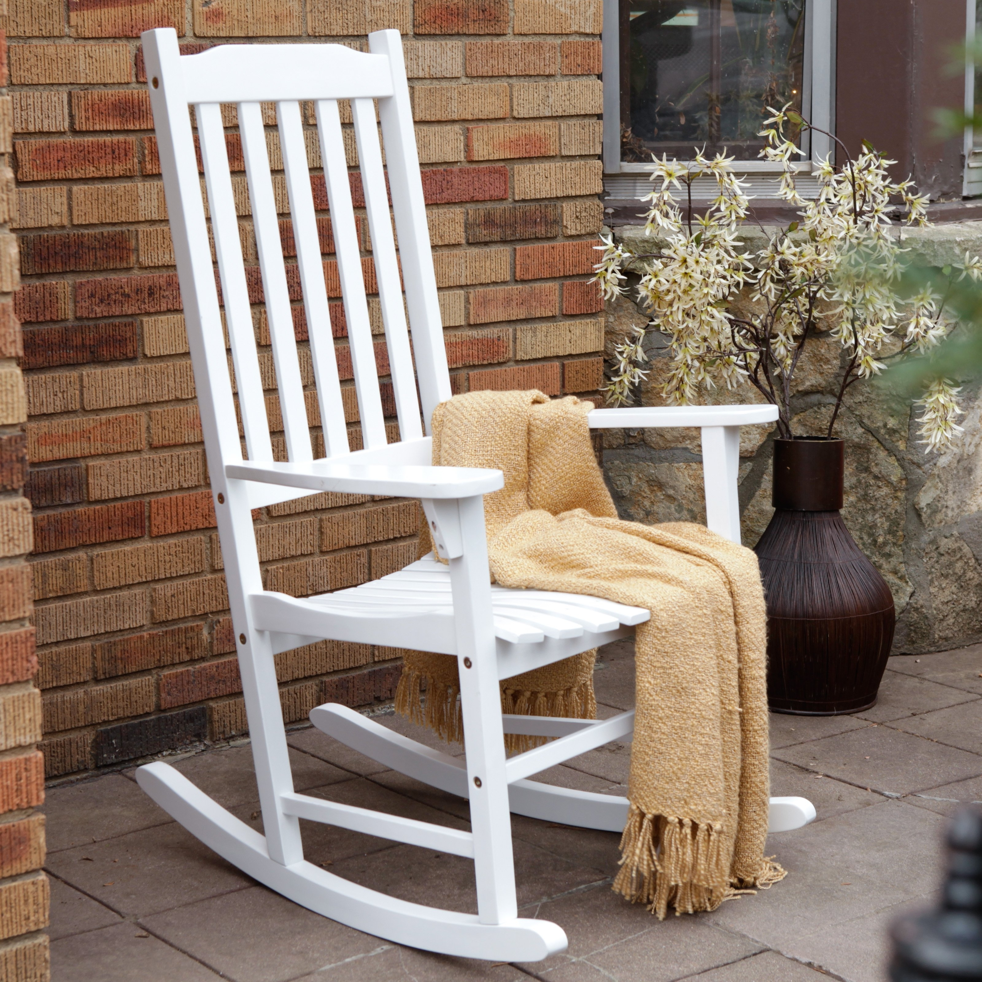 Furniture: Inspiring Outdoor Rocking Chair For Your Porch Or Your Pertaining To Well Liked Rocking Chair Outdoor Wooden (View 3 of 15)