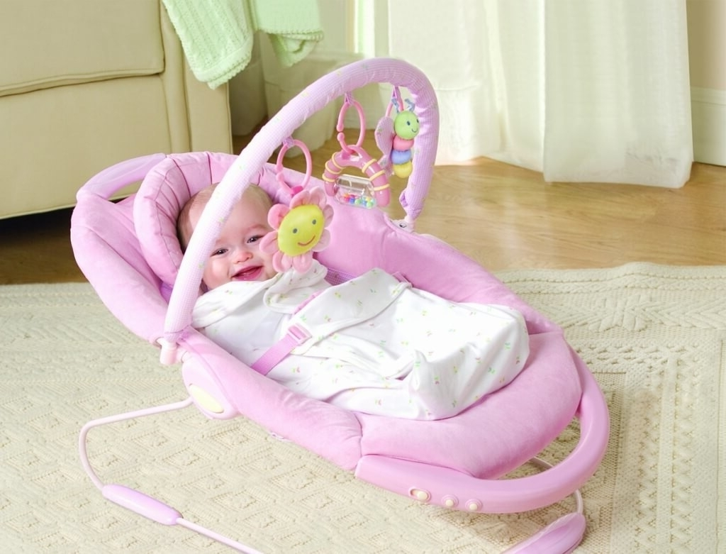 Furniture: Modern Electric Pink Baby Girls Rocking Chair – Cool Baby With Current Rocking Chairs For Babies (View 8 of 15)