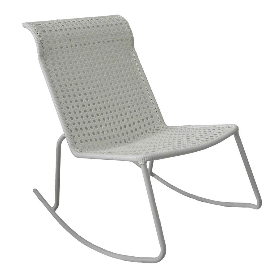 Garden Treasures Jewel Point White Steel Stackable Patio Rocking Within Well Known Stackable Patio Rocking Chairs (Gallery 6 of 15)