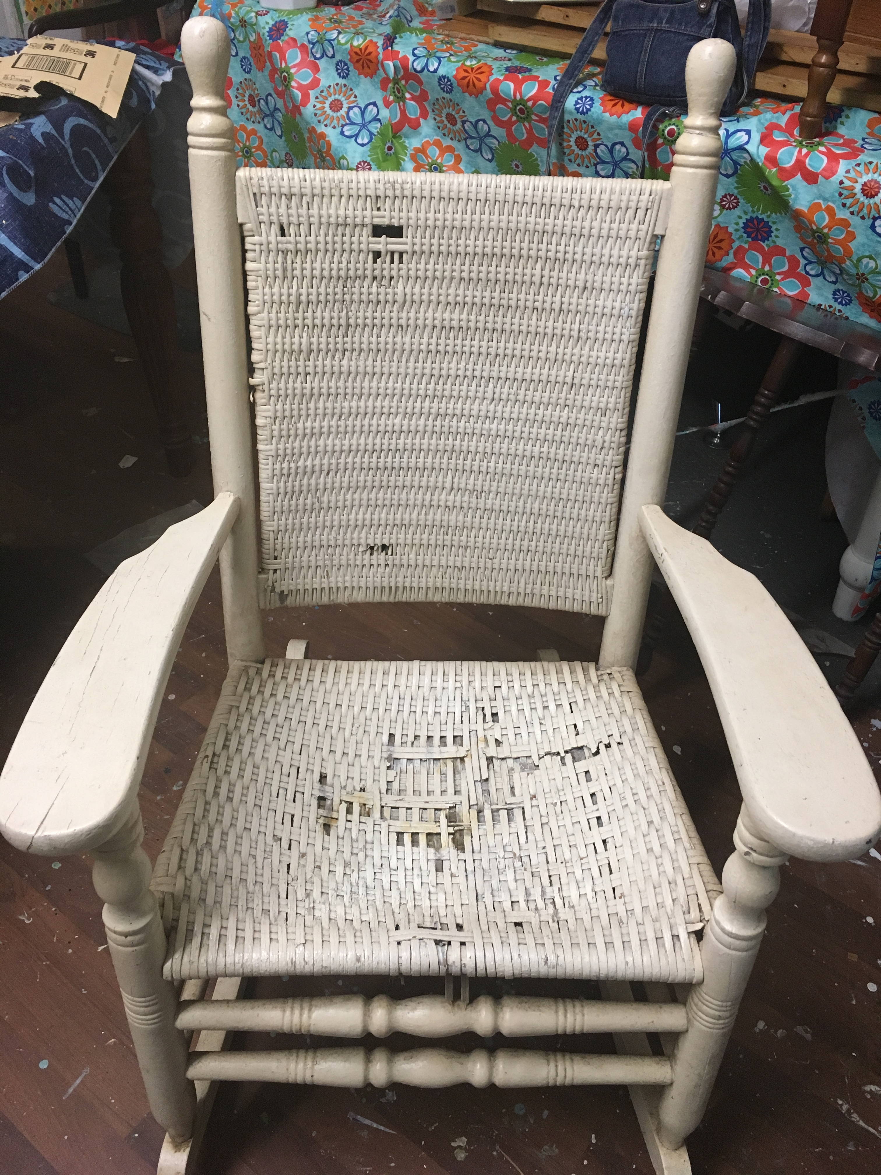 Ginger's Attic In Vintage Wicker Rocking Chairs (View 12 of 15)