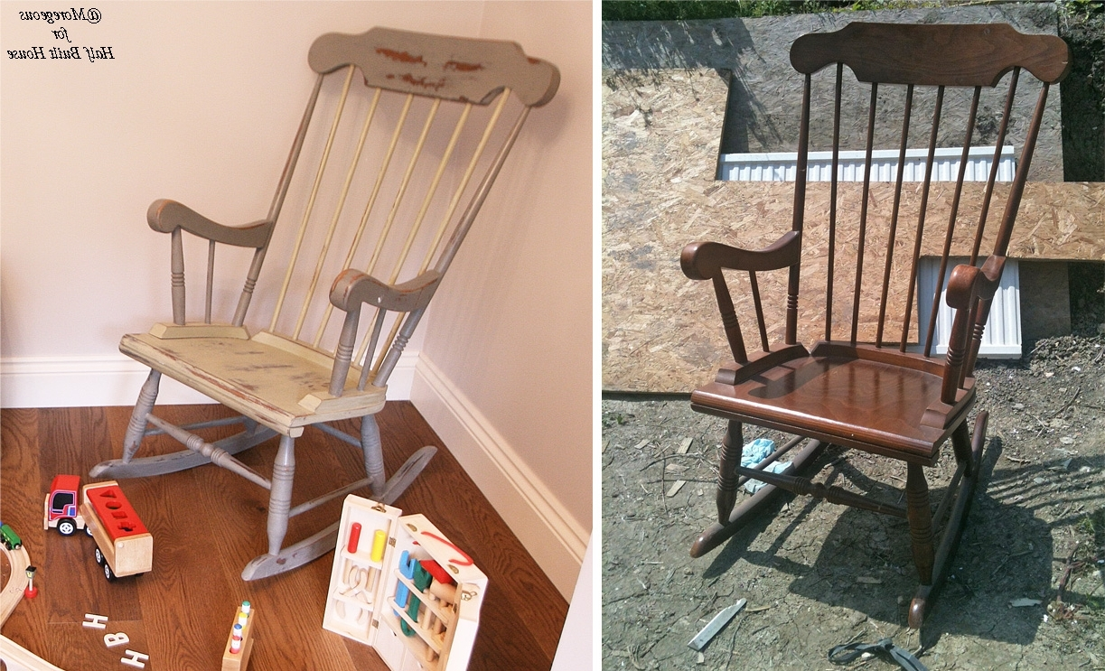 Hbh Eastbourne: A Spot Of Child Friendly Designing & Upcycling With Pertaining To Famous Upcycled Rocking Chairs (View 5 of 15)