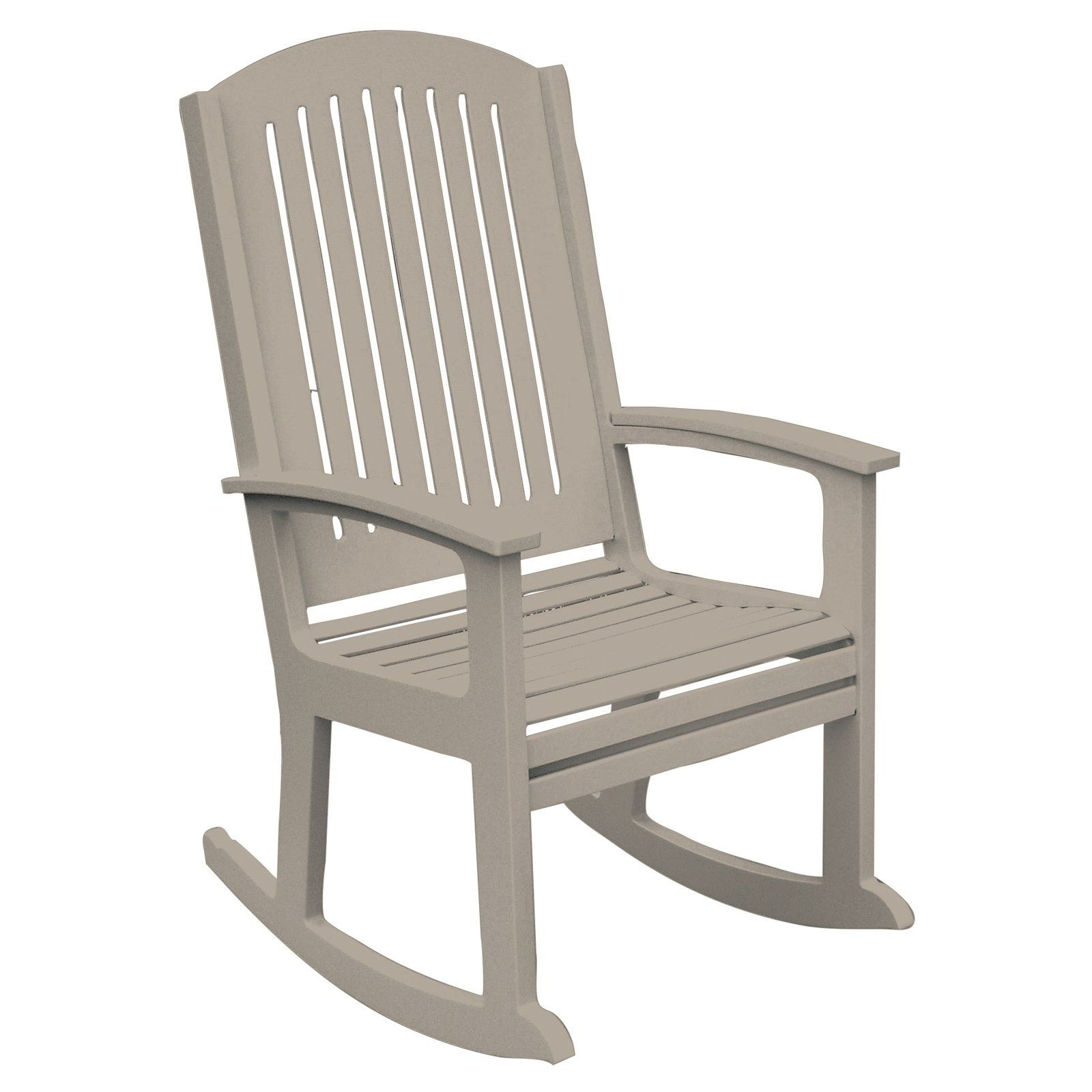 High Back Rocking Chairs Inside Most Recently Released Poly Concepts Outdoor Andureflex High Back Rocker (View 5 of 15)