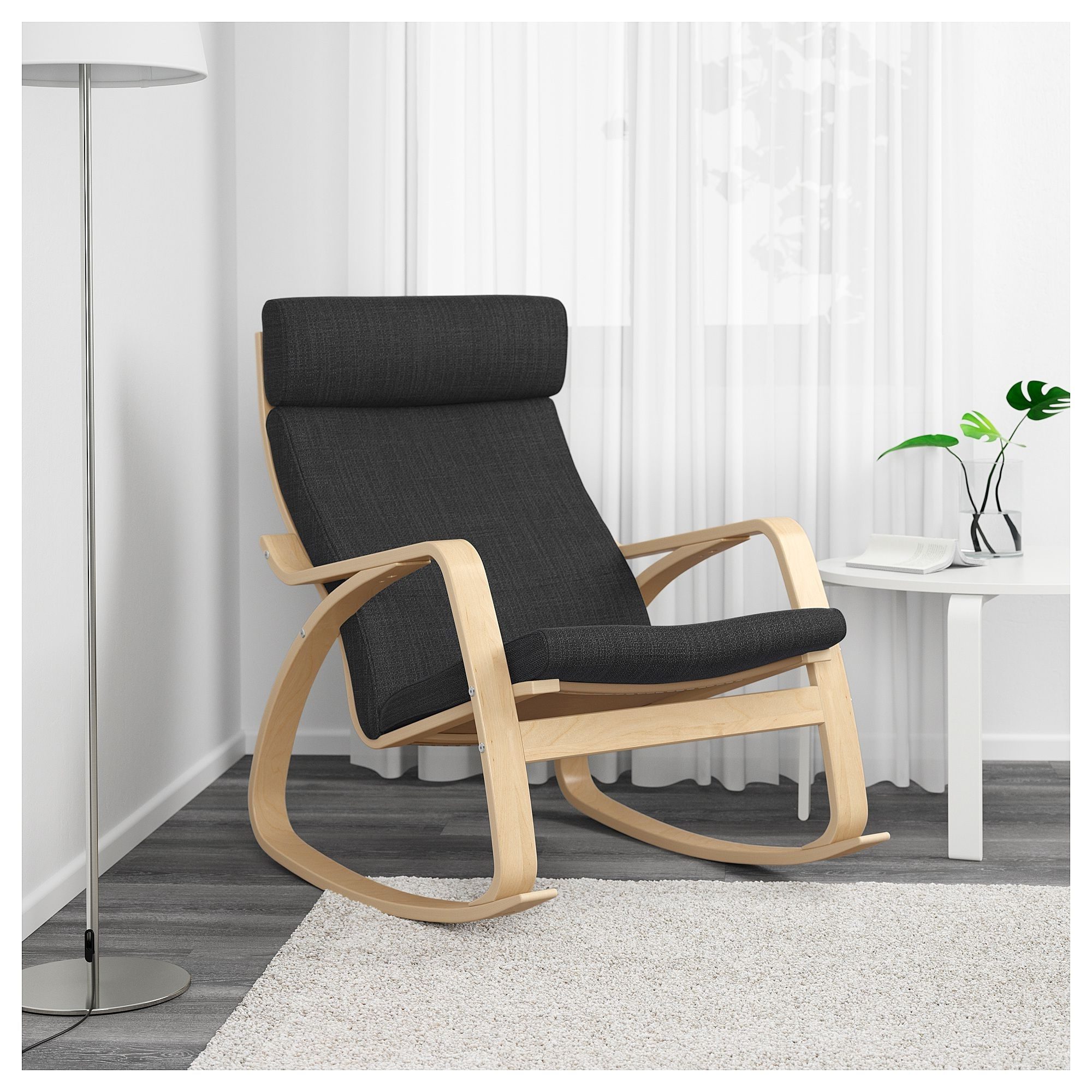 Ikea – Poäng Rocking Chair Birch Veneer, Hillared Anthracite With Most Up To Date Ikea Rocking Chairs (Gallery 14 of 15)