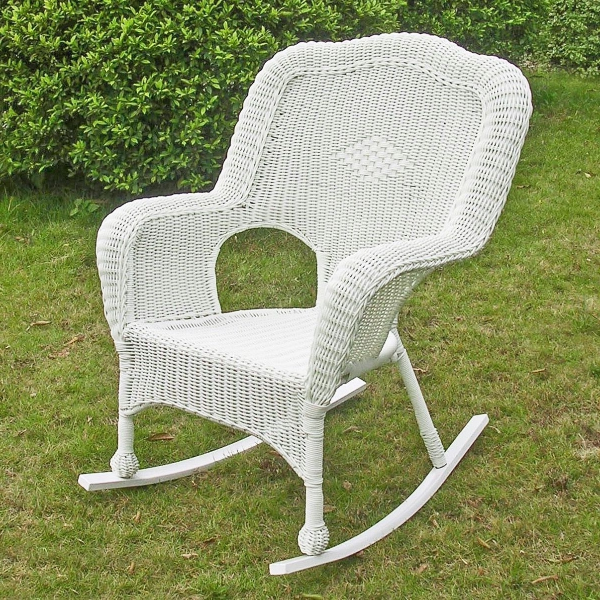 International Caravan Resin Wicker Camel Back Rocking Chairs (Set Of Intended For Widely Used White Resin Patio Rocking Chairs (Gallery 14 of 15)