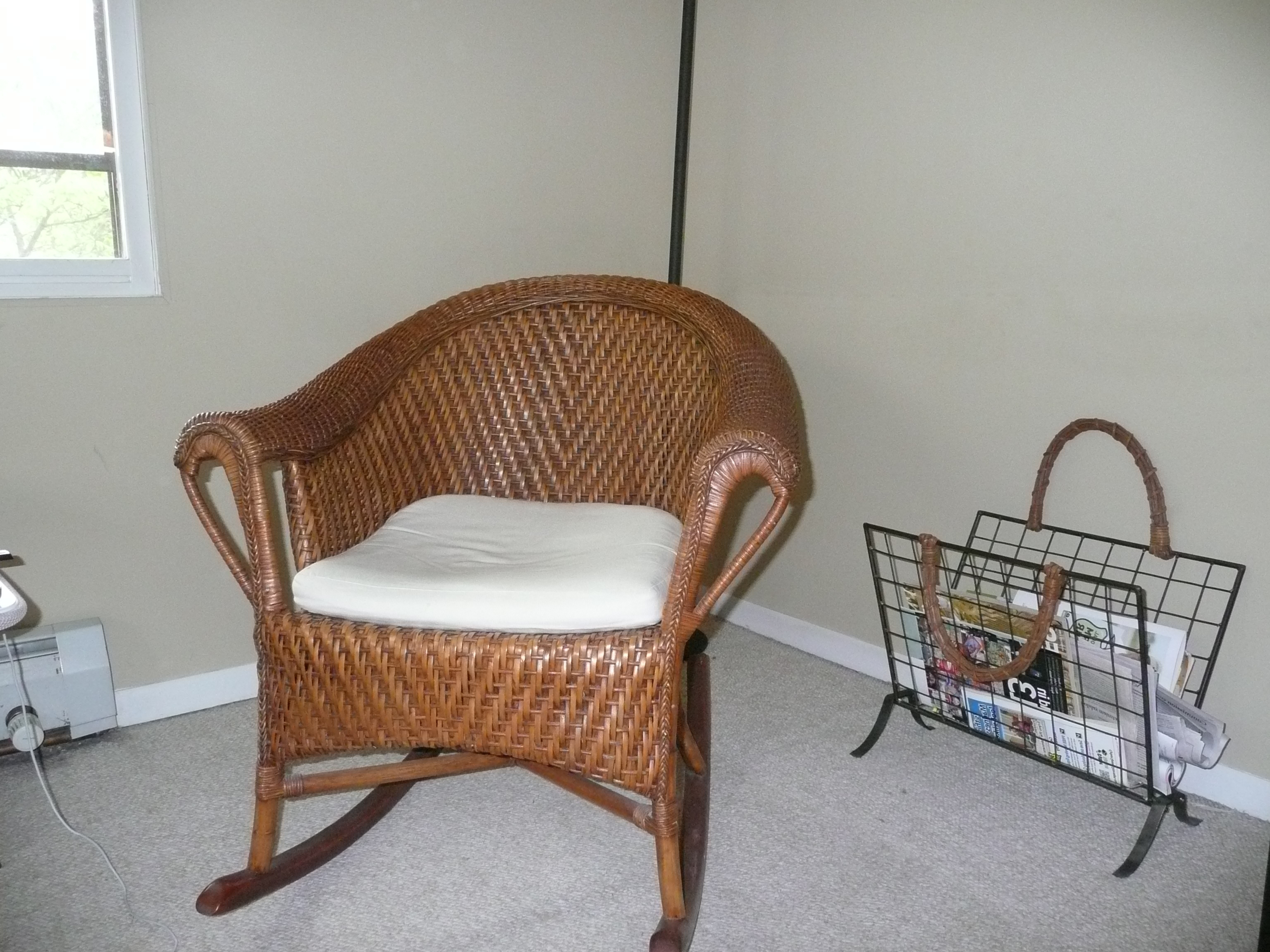 Latest Antique Wicker Rocking Chairs With Springs With Antique Wicker Rocking Chair With Springs (View 8 of 15)