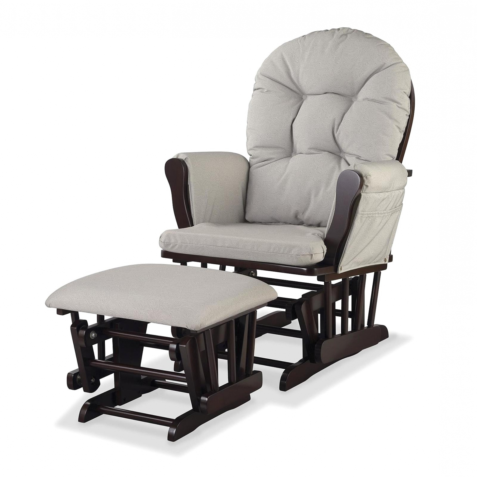 Latest Rocking Chairs At Target Inside Furniture: Nursery Rocking Chair With Ottoman Glider Baby Rocker (View 4 of 15)