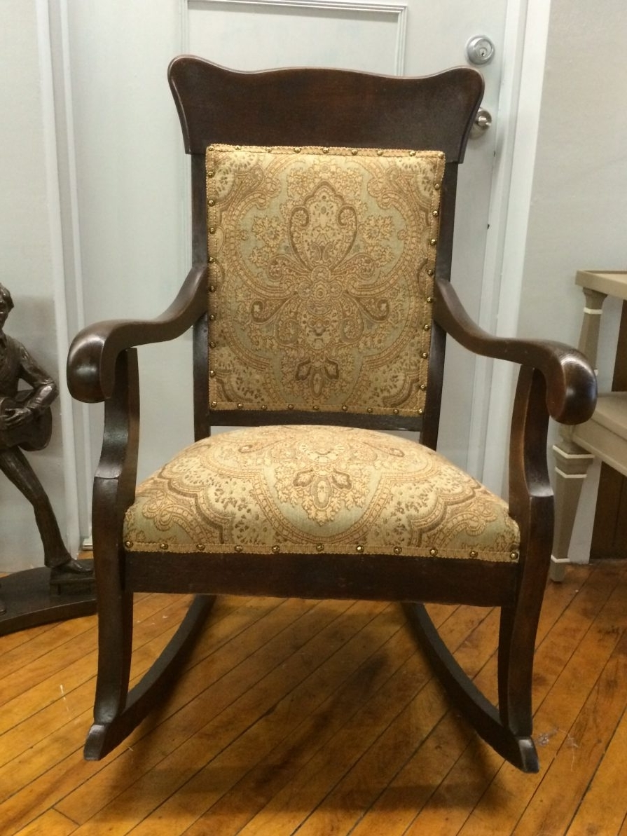 Latest Rocking Chairs : Maryland House Antiques Vintage Wicker Rocker With Inside Antique Wicker Rocking Chairs With Springs (View 9 of 15)