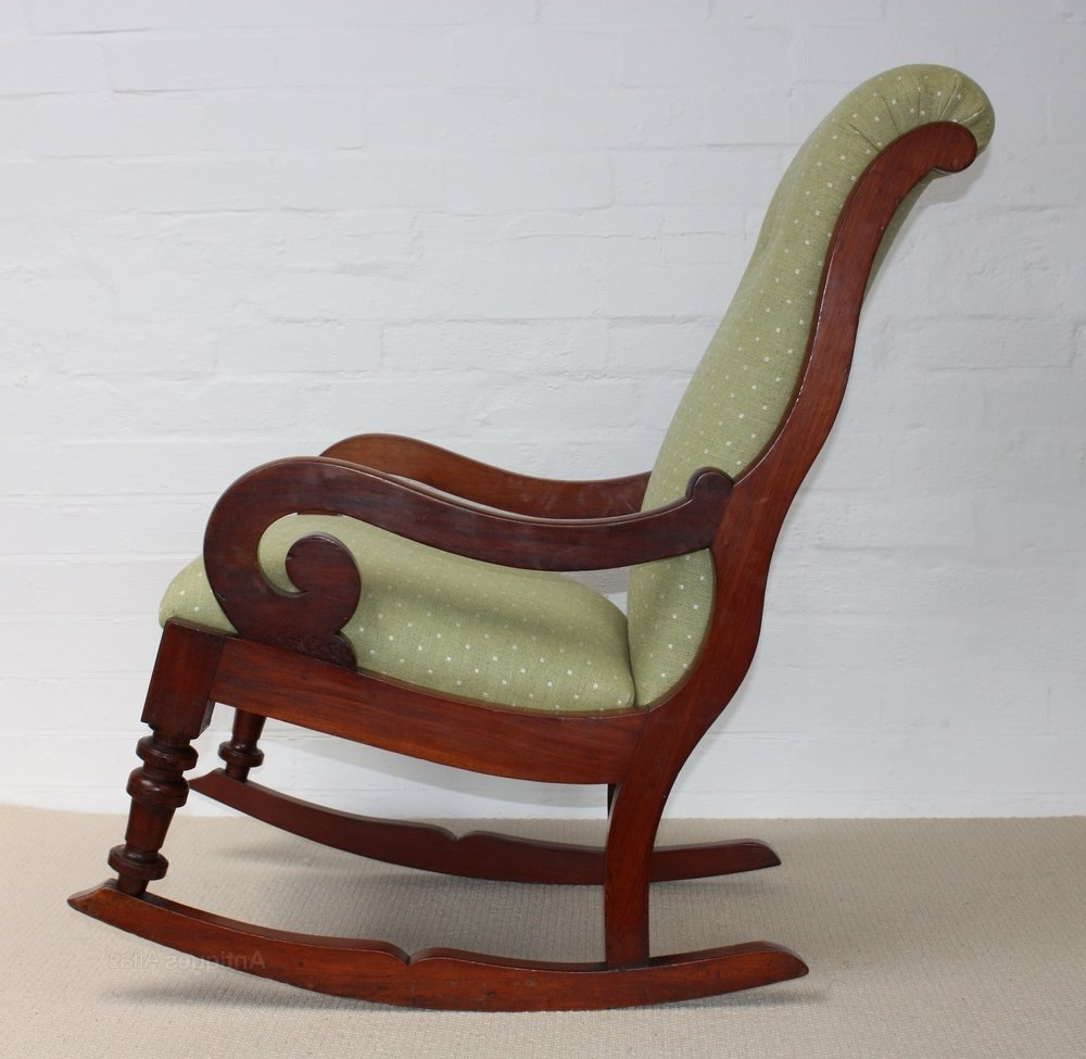 Latest Victorian Rocking Chairs Inside A Victorian Mahogany Rocking Chair – Antiques Atlas (View 4 of 15)
