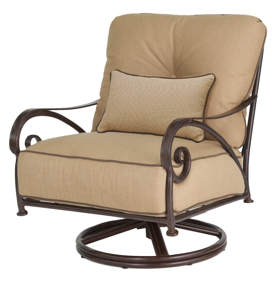 Leona Lucerne Swivel Rocking Chair With Cushion & Reviews (View 9 of 15)