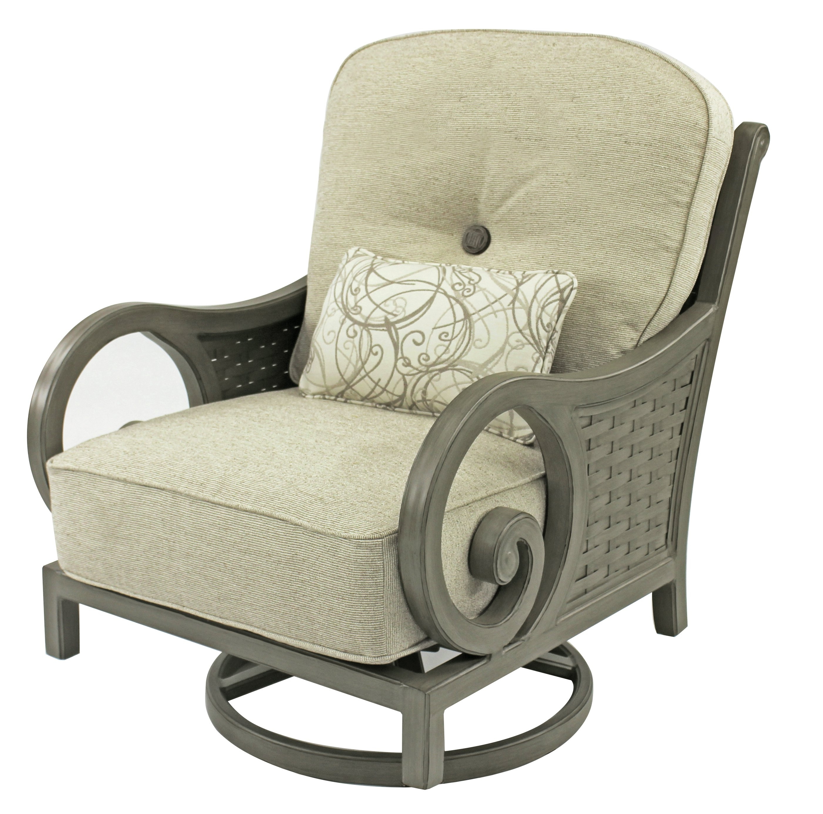Leona Riviera High Back Swivel Rocking Chair With Cushion & Reviews Regarding Latest High Back Rocking Chairs (View 10 of 15)