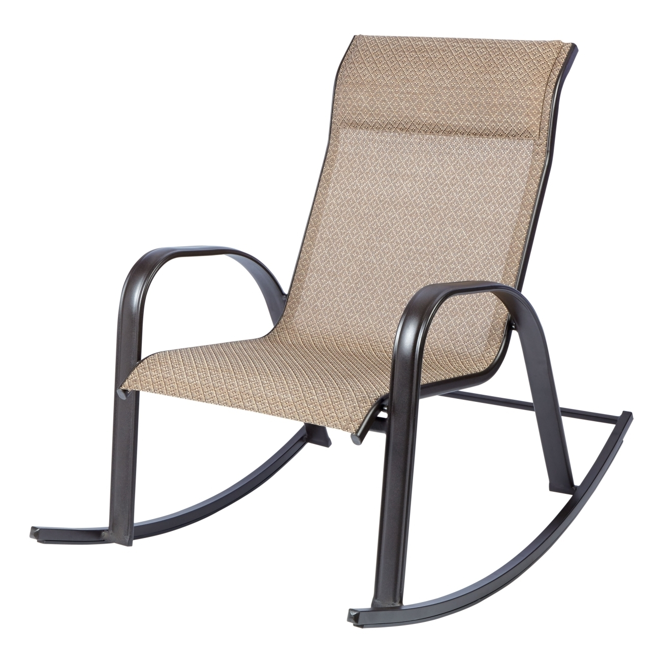 Living Accents Newport Rocking Chair Brown Outdoor Dining Chairs For Most Current Used Patio Rocking Chairs (View 14 of 15)
