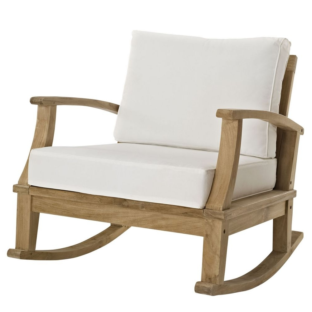 Manhattan Patio Grey Rocking Chairs Pertaining To Best And Newest Marina Patio Teak Rocker Chair Manhattan Home Design Outdoor Rocking (View 13 of 15)