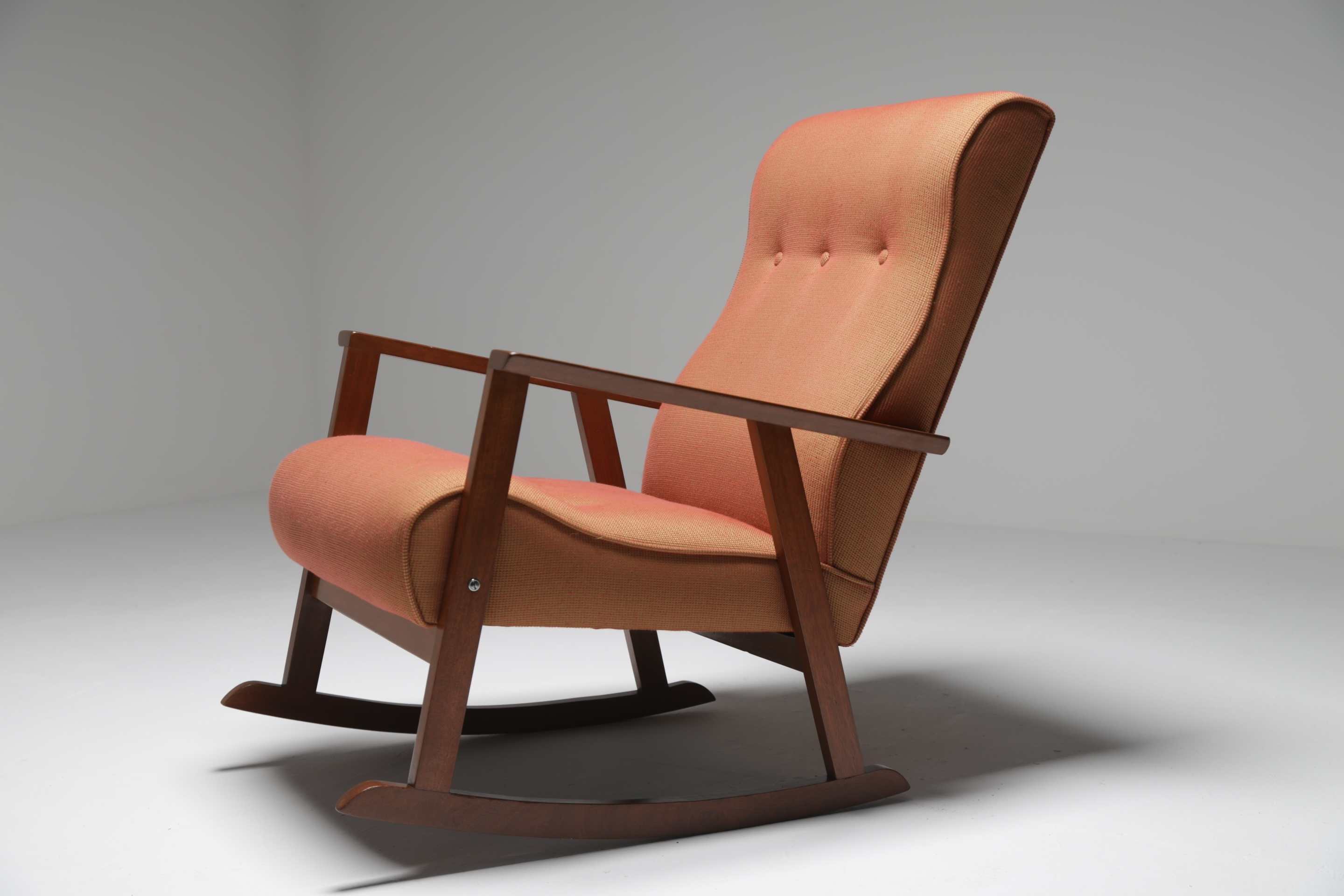 Mid Century Teak Rocking Chair Madecrannac Factory, Ireland C (View 13 of 15)