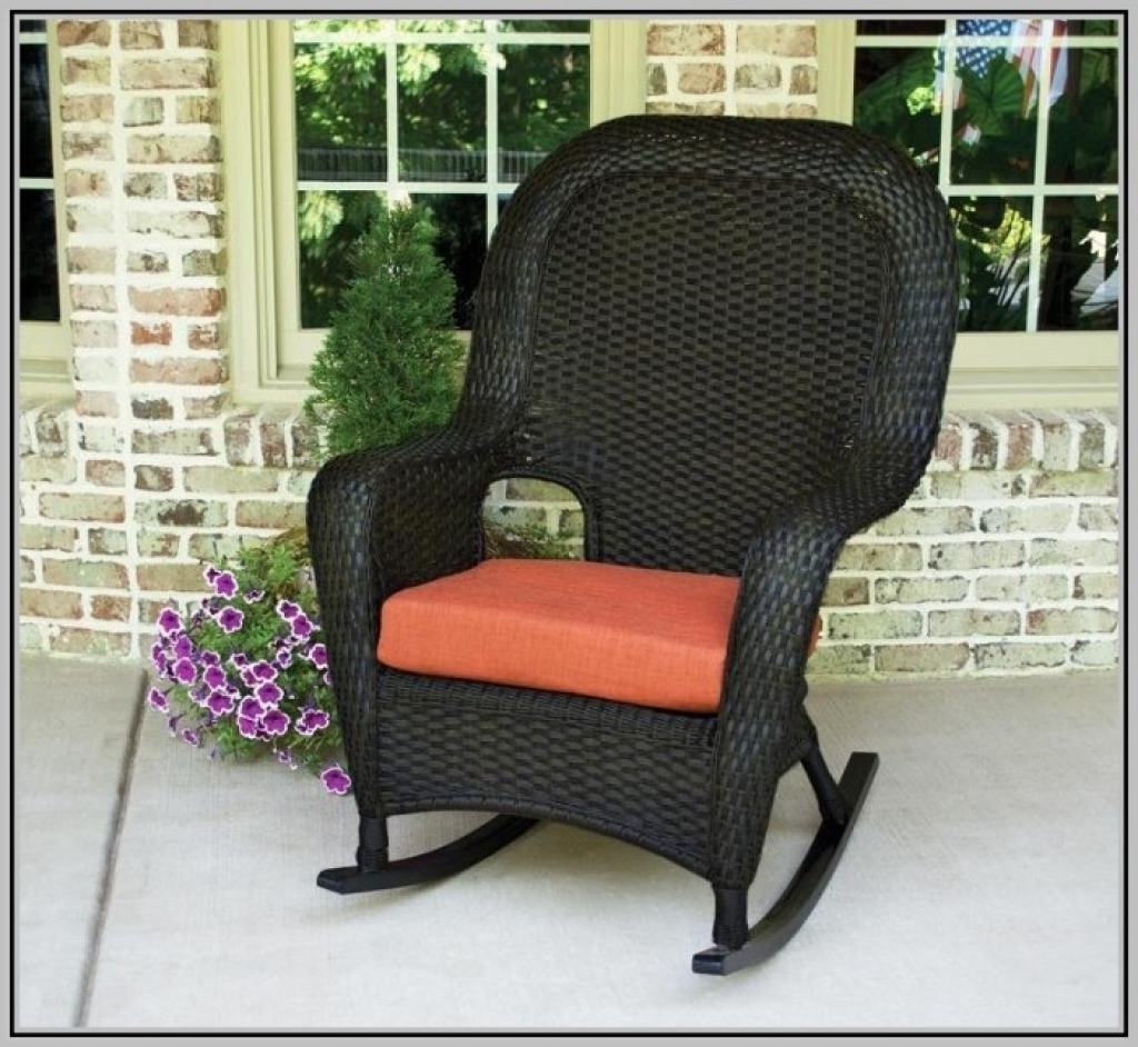 Most Current Good Outdoor Rocking Chairs With Cushions — Bistrodre Porch And With Regard To Wicker Rocking Chairs With Cushions (View 14 of 15)