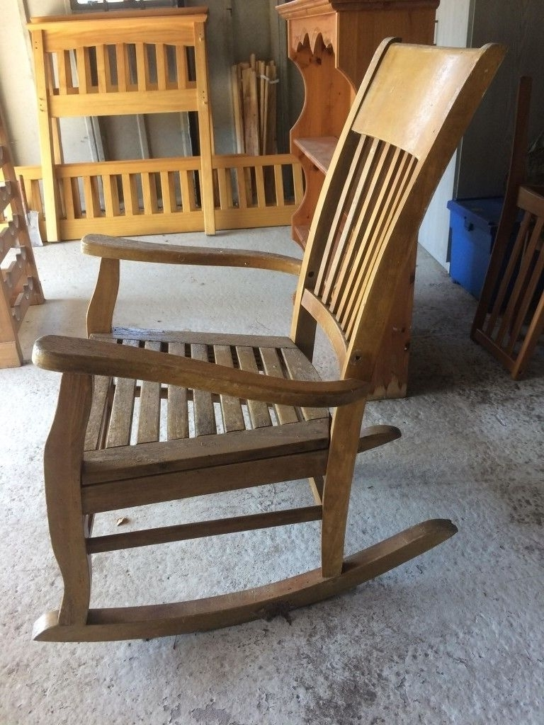 Most Current Old Fashioned Rocking Chairs In Old Fashioned Rocking Chair, £15 Ono, Approx Height 1060 And Width (View 9 of 15)