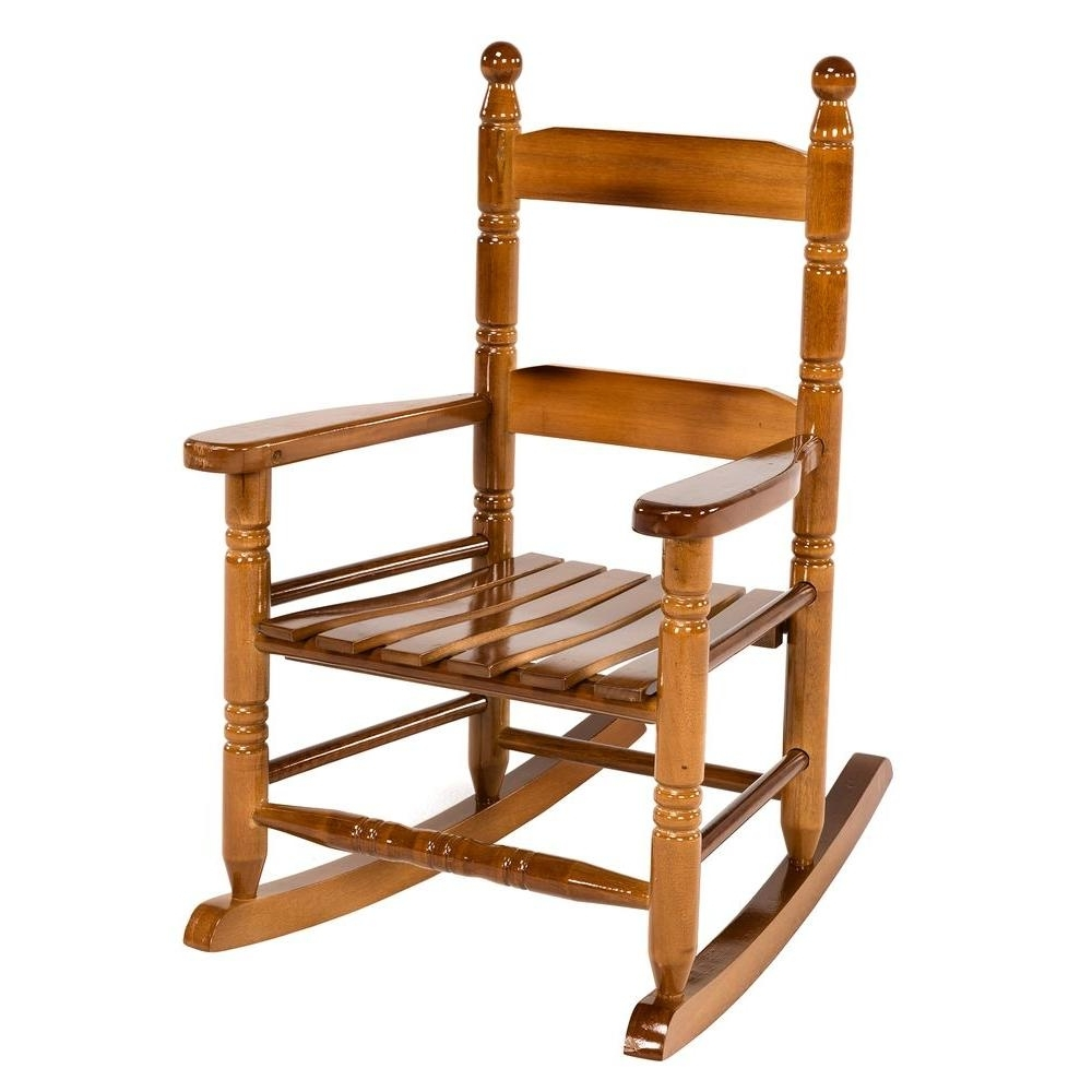 Most Current Rocking Chairs For Toddlers Throughout Jack Post Oak Children's Patio Rocker 08101784 – The Home Depot (View 5 of 15)
