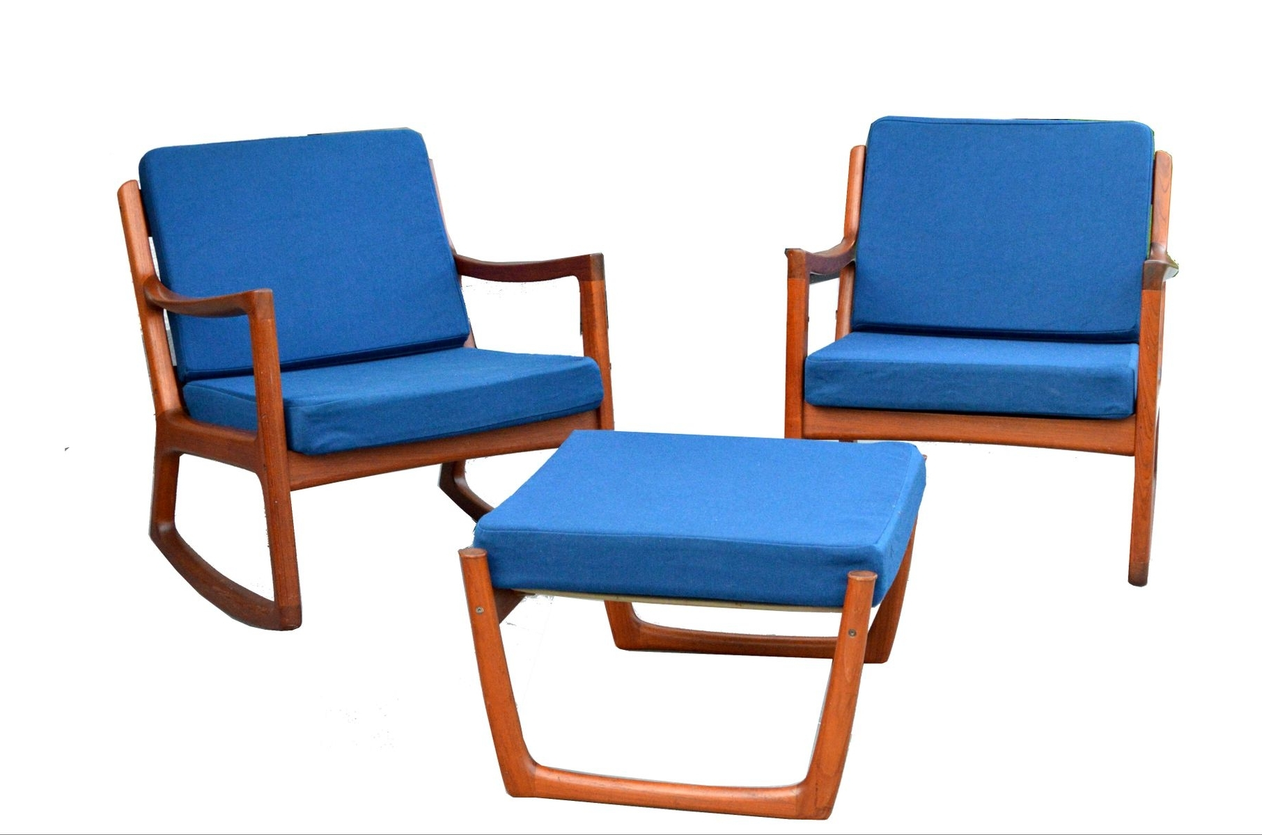 Most Current Rocking Chairs With Footstool Intended For 2 Senator Rocking Chairs & 1 Footstoolole Wanscher For France (View 9 of 15)