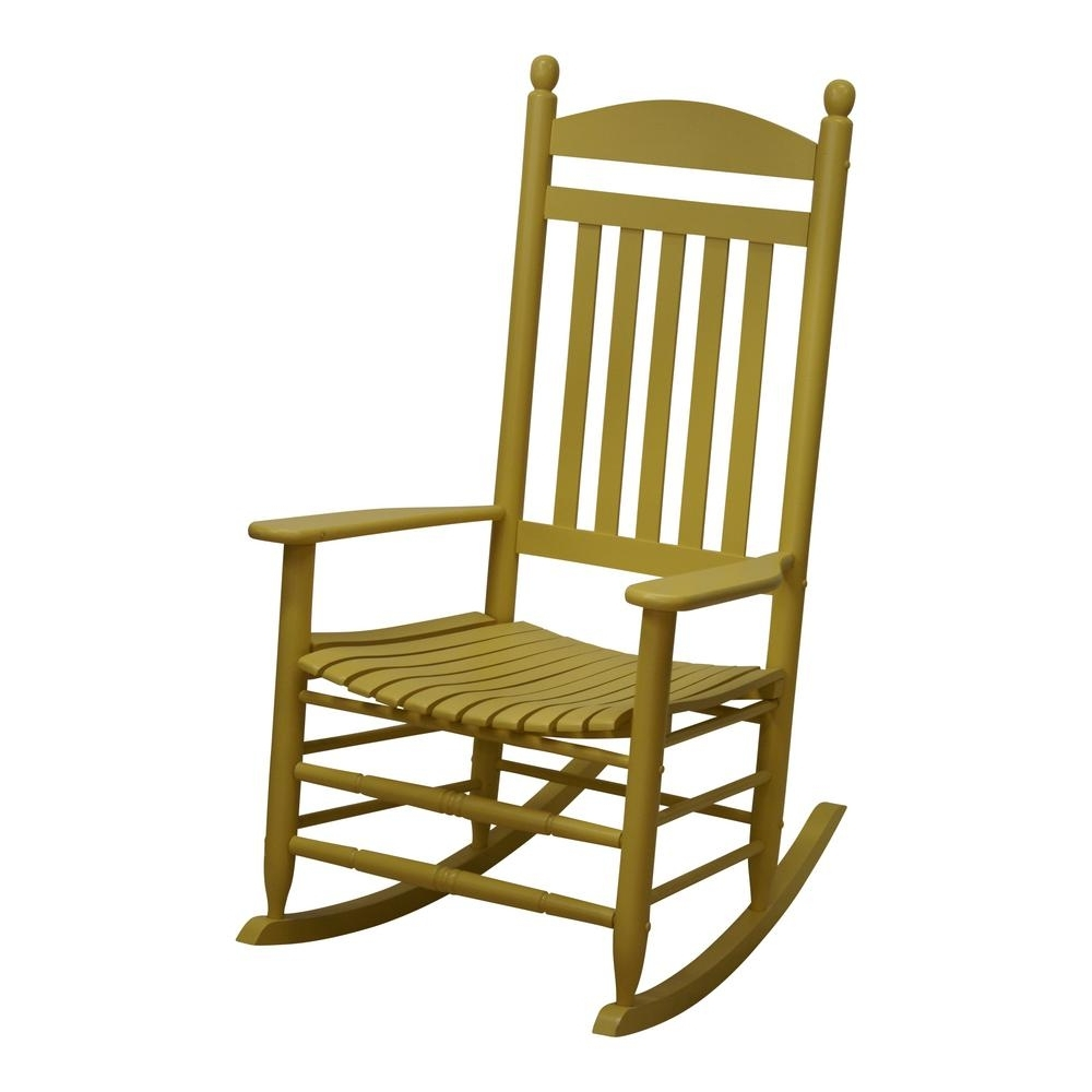 Most Current Yellow Outdoor Rocking Chairs Within Bradley Slat Cornbread Patio Rocking Chair 200S Corn Rta – The Home (View 5 of 15)