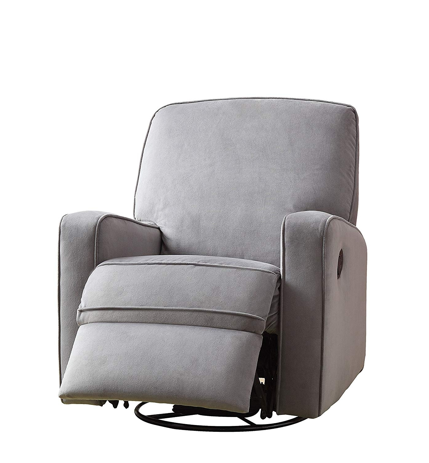 Most Current Zen Rocking Chairs Intended For Amazon: Pulaski Sutton Swivel Glider Recliner, Zen Grey With (View 8 of 15)