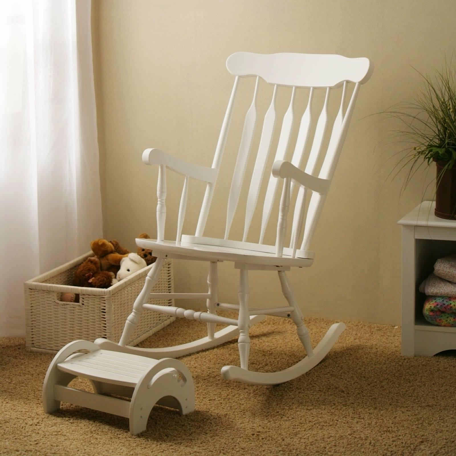 Most Popular Black Nursery Rocking Chair – Noakijewelry In Rocking Chairs With Footstool (View 10 of 15)