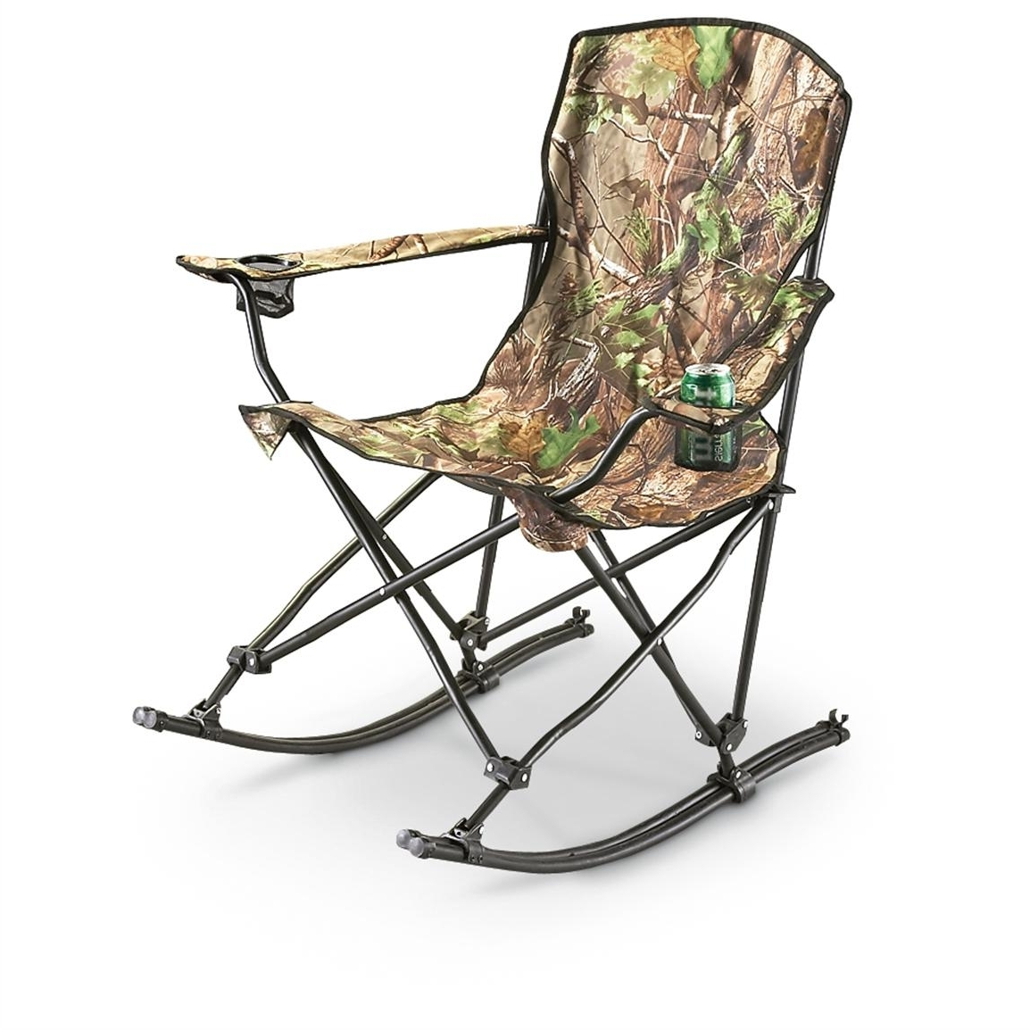 Most Popular Folding Rocking Chairs Within Stansport™ Team Realtree® Folding Rocking Chair – 178647, Chairs At (View 10 of 15)