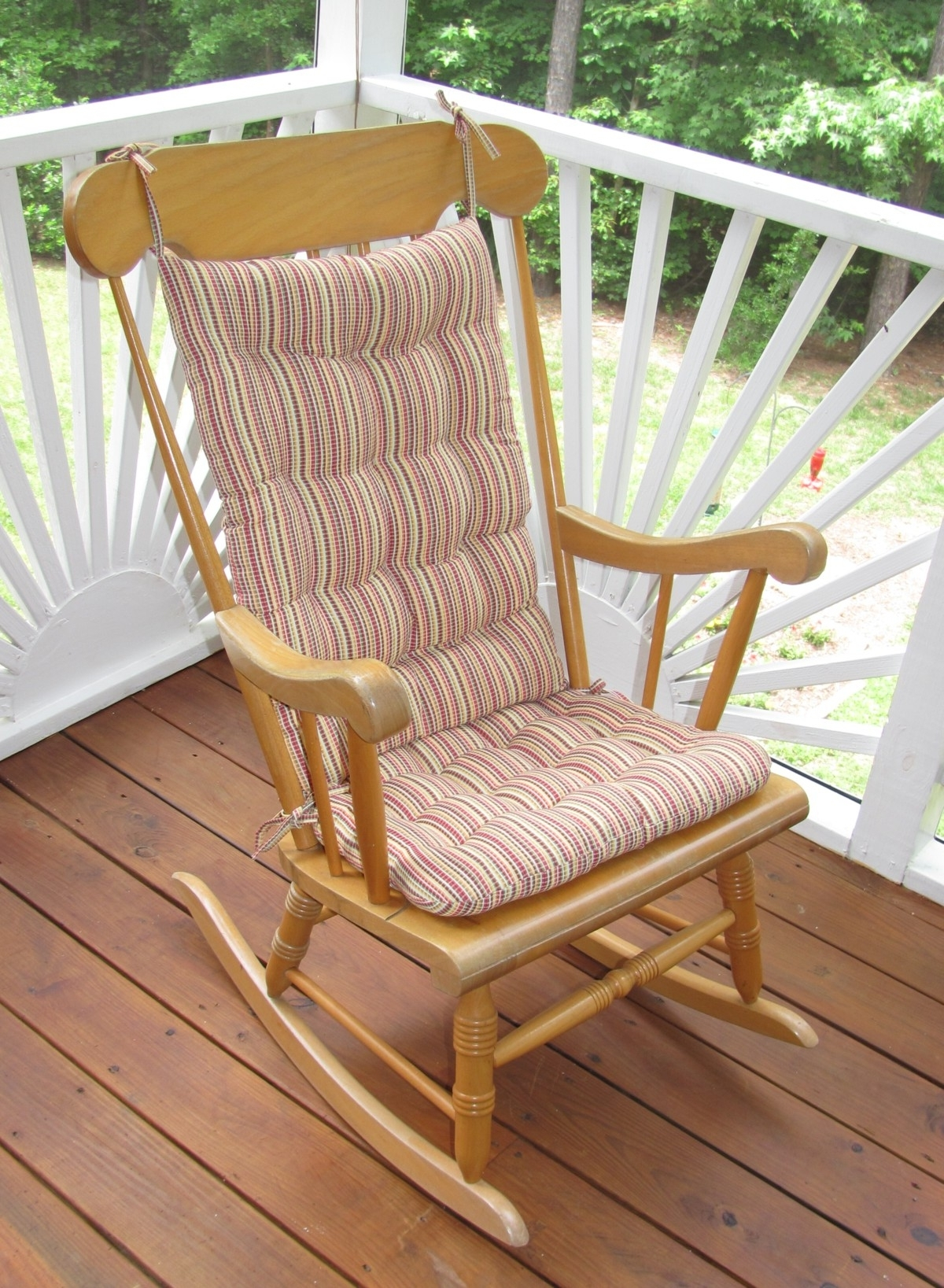 Most Popular Outdoor Rocking Chair Cushions Strip : Beautiful Outdoor Rocking In Rocking Chair Cushions For Outdoor (View 3 of 15)