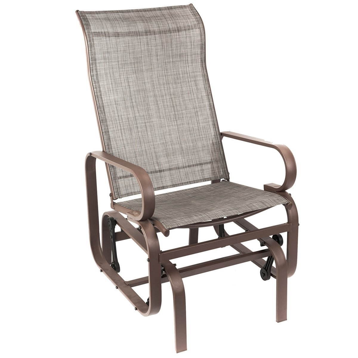 Most Popular Rocking Chairs For Patio Within Naturefun Outdoor Patio Rocker Chair, Balcony Glider Rocking Lounge (View 3 of 15)