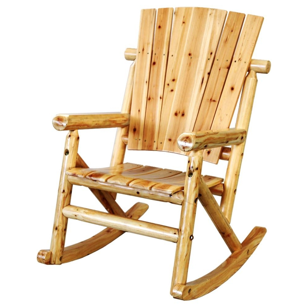Most Popular Rocking Chairs Within Leigh Country Aspen Wood Outdoor Rocking Chair Tx 95100 – The Home Depot (View 11 of 15)