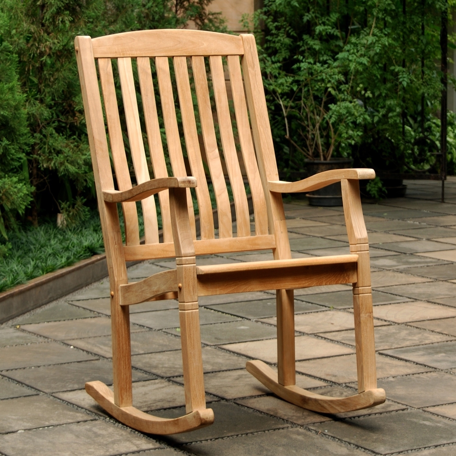 Most Popular Teak Patio Rocking Chairs Pertaining To Teak Patio Furniture (View 8 of 15)