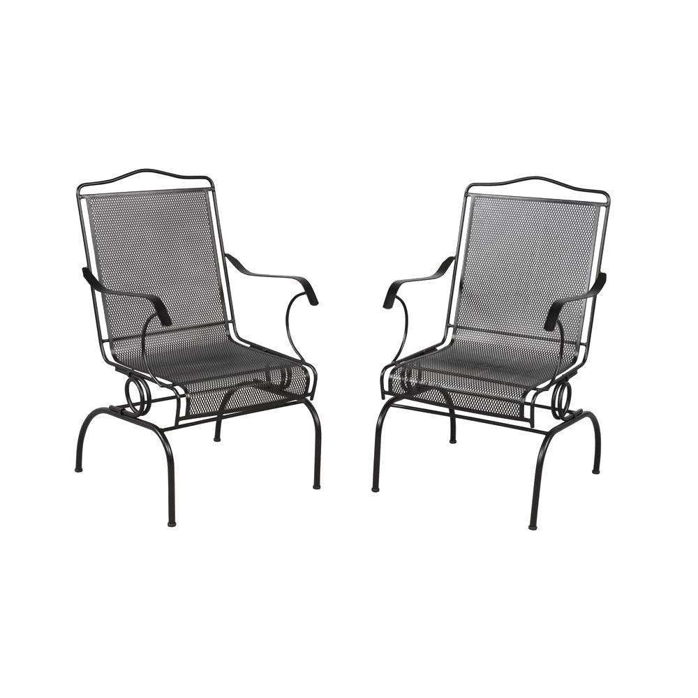 Most Recent Outdoor Dining Chairs – Patio Chairs – The Home Depot Intended For Iron Rocking Patio Chairs (View 10 of 15)