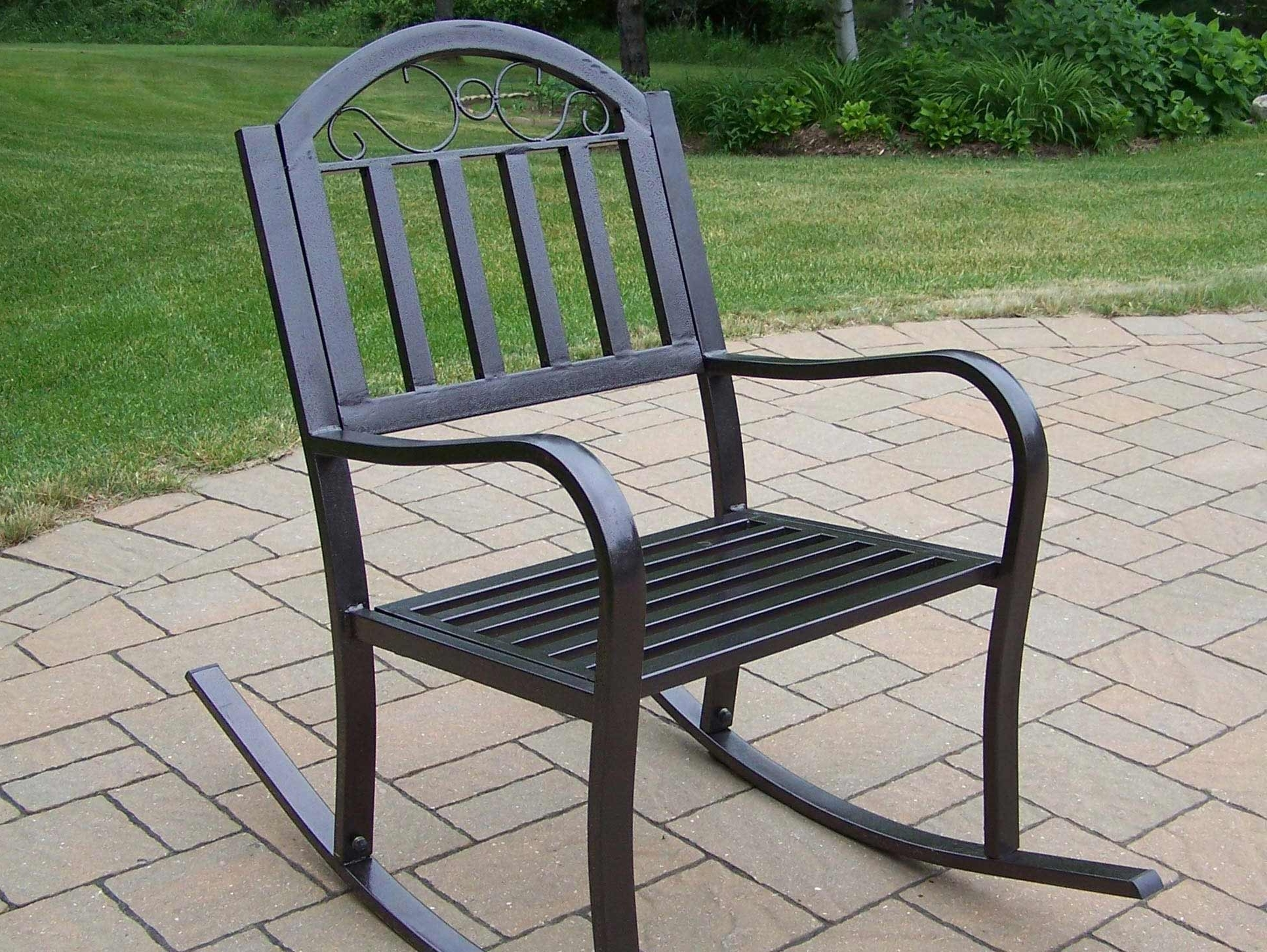 Most Recent Patio Metal Rocking Chairs Within Wrought Iron Patio Rocker Chairs Icamblog Black Rocking Chair For (View 10 of 15)
