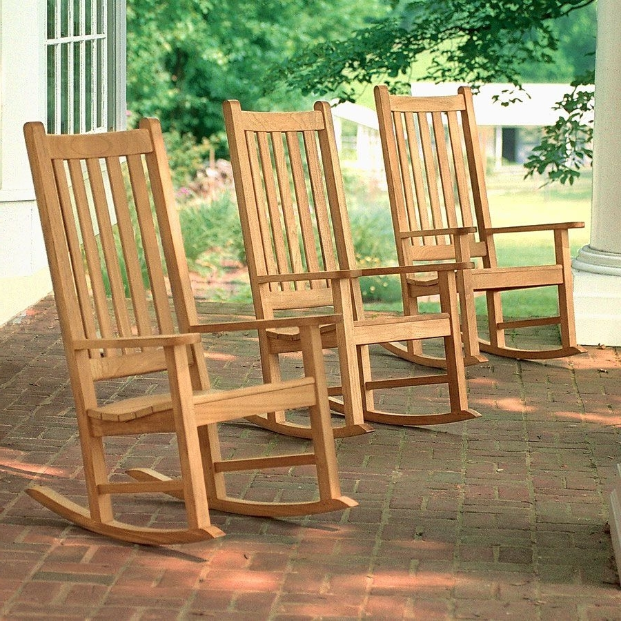 Most Recent Rocking Chairs Intended For Teak Outdoor Chairs – Weymouth Rocking Chair (View 15 of 15)