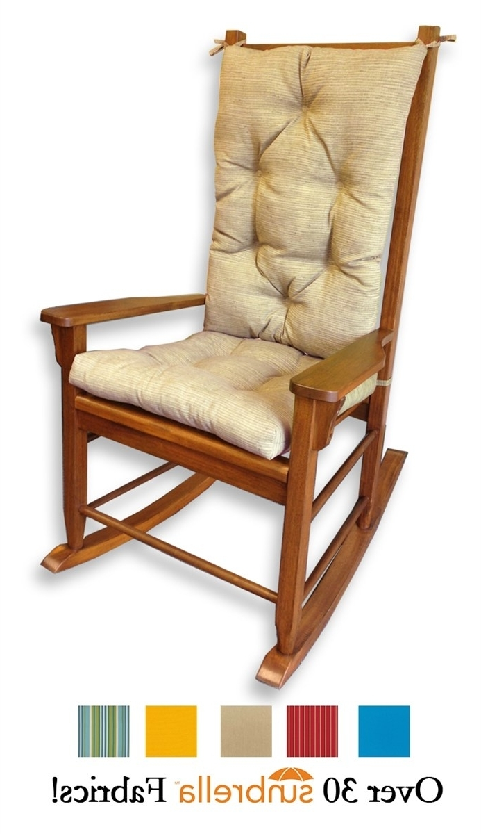 Most Recent Witching Larger Photo Email A Friend Sunbrella Outdoor Rocking Chair Inside Rocking Chair Cushions For Outdoor (View 14 of 15)