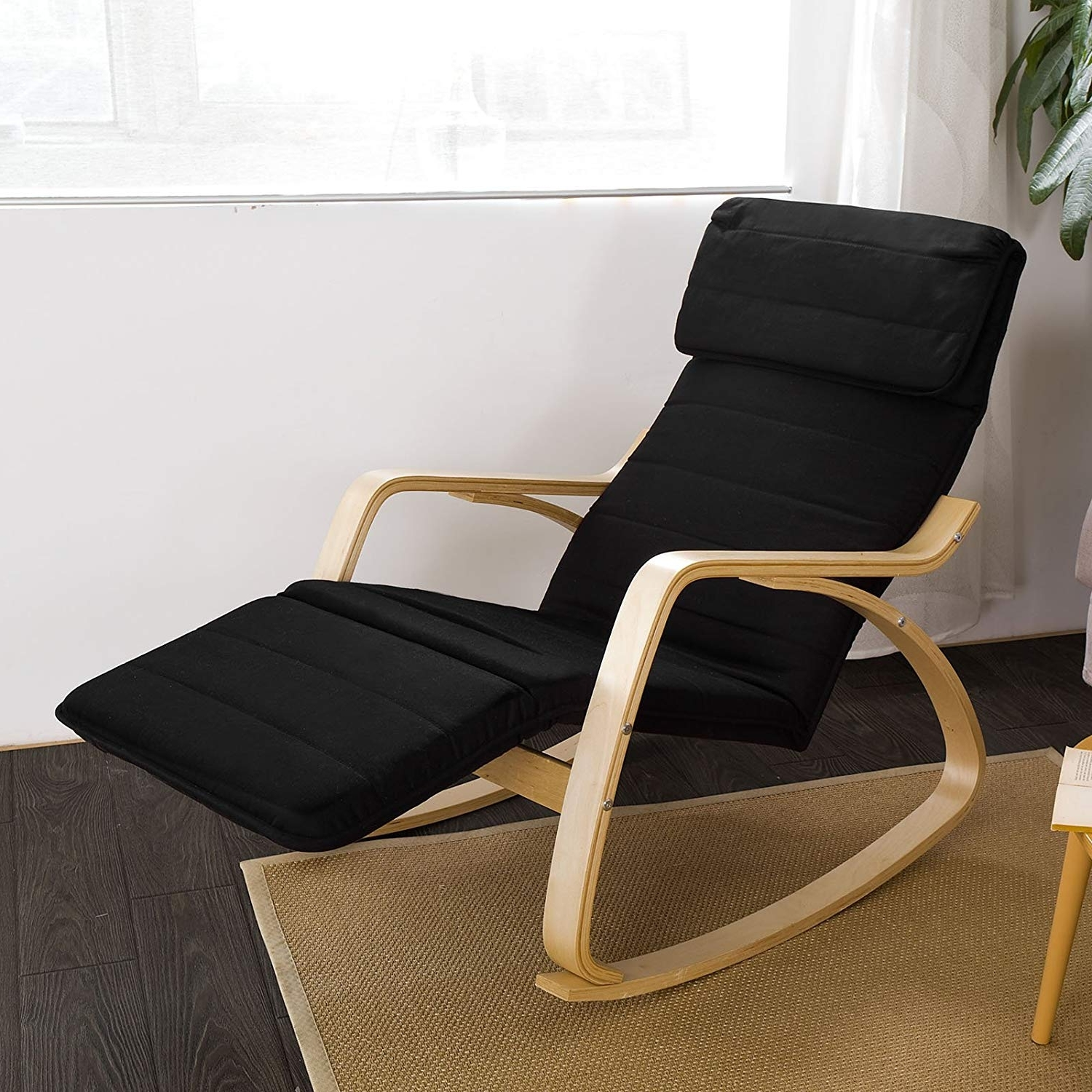 Most Recently Released Amazon Rocking Chairs Intended For Amazon: Haotian Comfortable Relax Rocking Chair With Foot Rest (View 10 of 15)