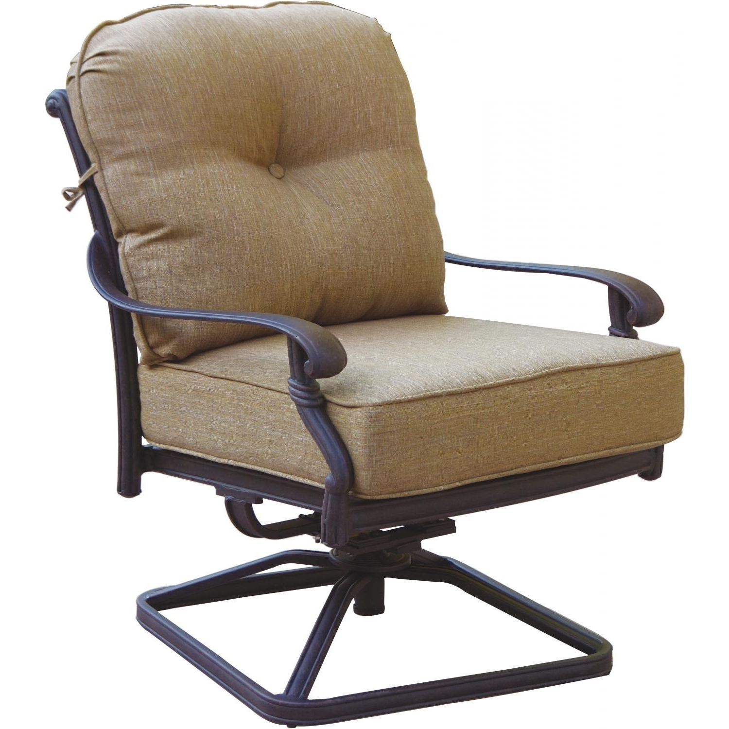 Most Recently Released Darlee Santa Monica Cast Aluminum Patio Swivel Rocker Club Chair In Aluminum Patio Rocking Chairs (View 7 of 15)